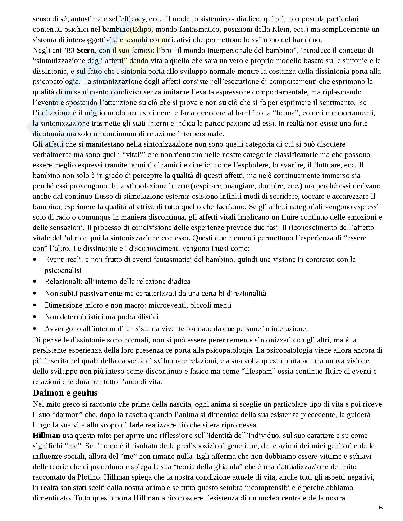 Riassunto esame Psicologia Dinamica Avanzata, prof. Amadei, libro consigliato Come si Ammala la Mente Amadei Pag. 6