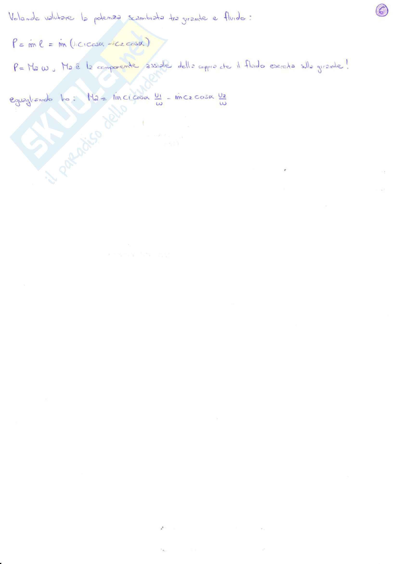 Riassunto e sintesi in schemi esame Macchine e Sistemi Energetici, prof. Caresana, libro consigliato Sistemi energetici e macchine a fluido Vol.1, Negri Di Montenegro - Bianchi - Peretto Pag. 6