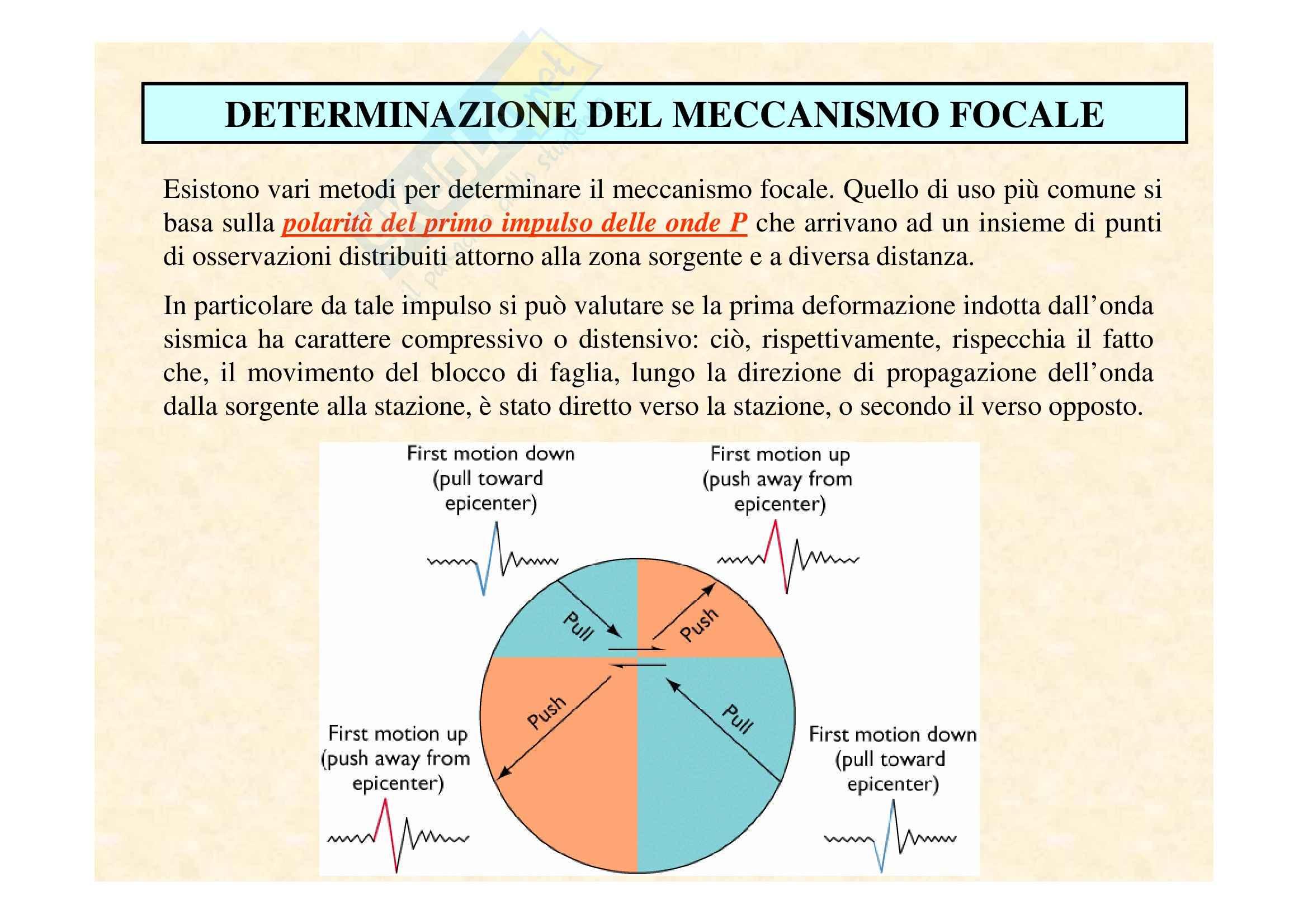 Sismologia - la determinazione del meccanismo focale (Beachball)