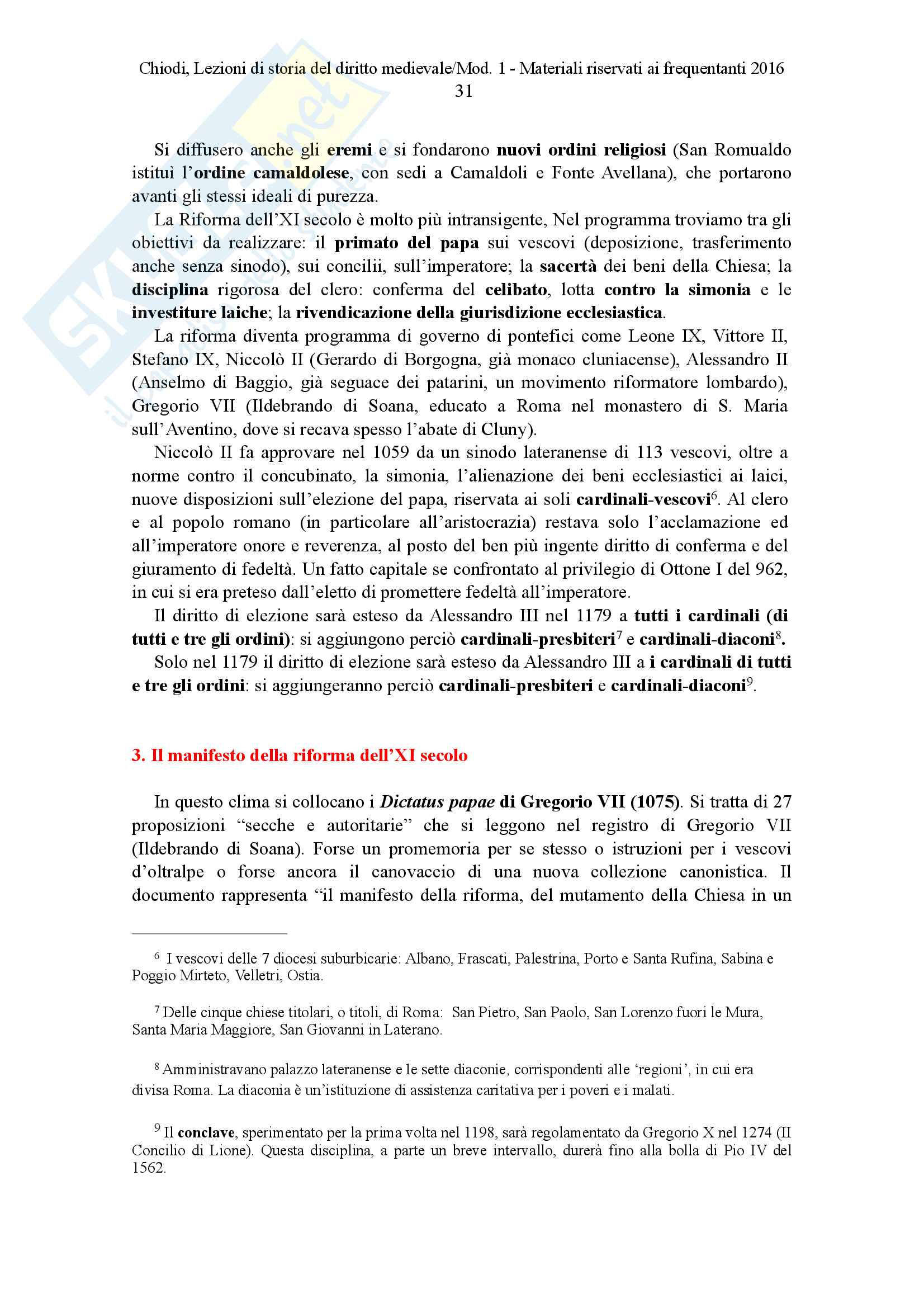 Storia del diritto medievale e moderno parte 1 Pag. 31