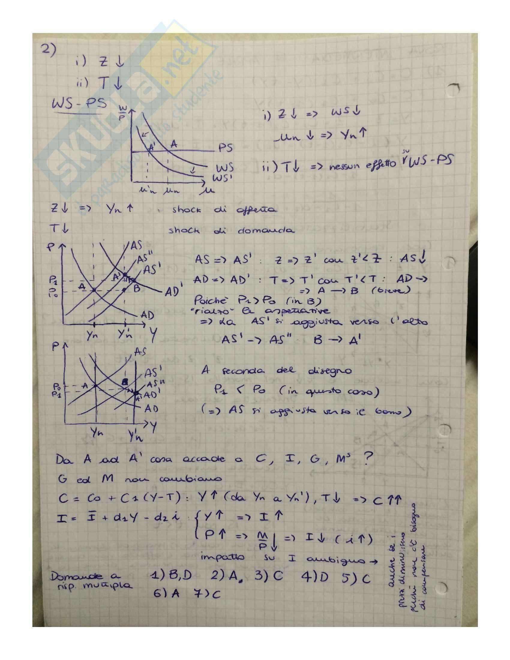Macroeconomia - soluzioni Pag. 6