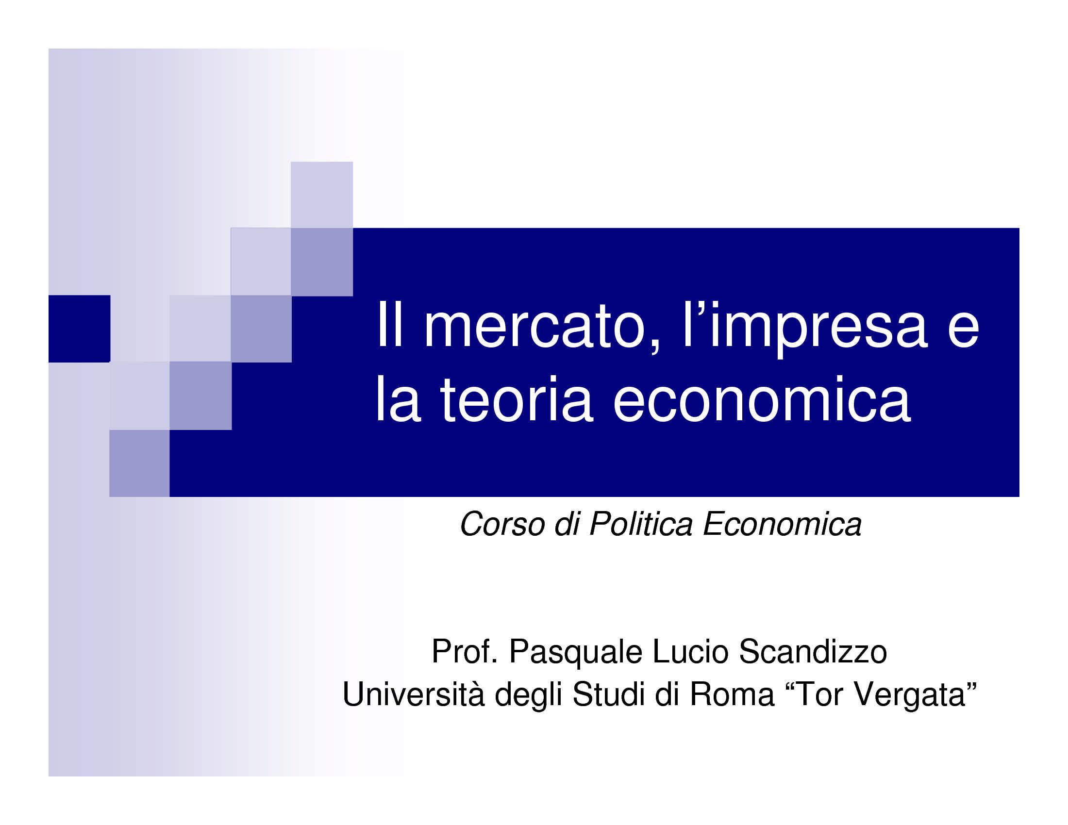 Mercato, impresa e teoria economica