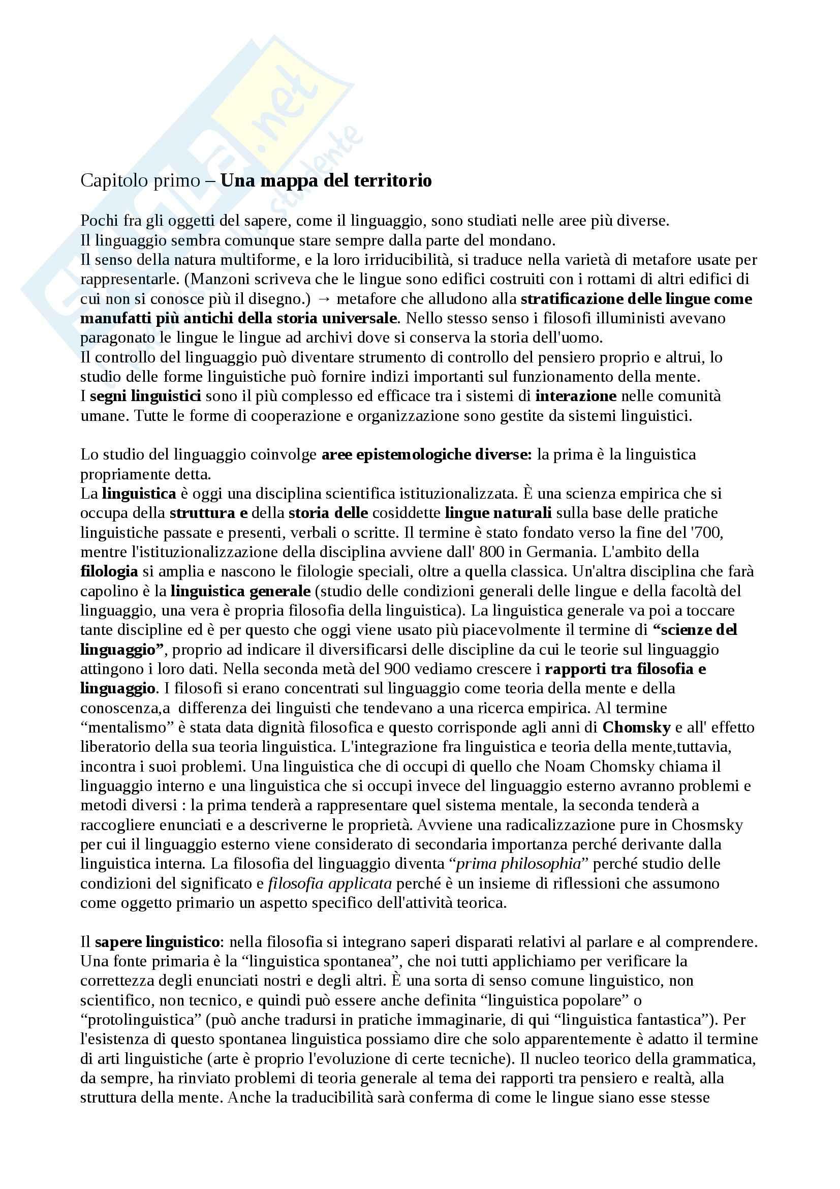 appunto P. Leonardi Filosofia del linguaggio