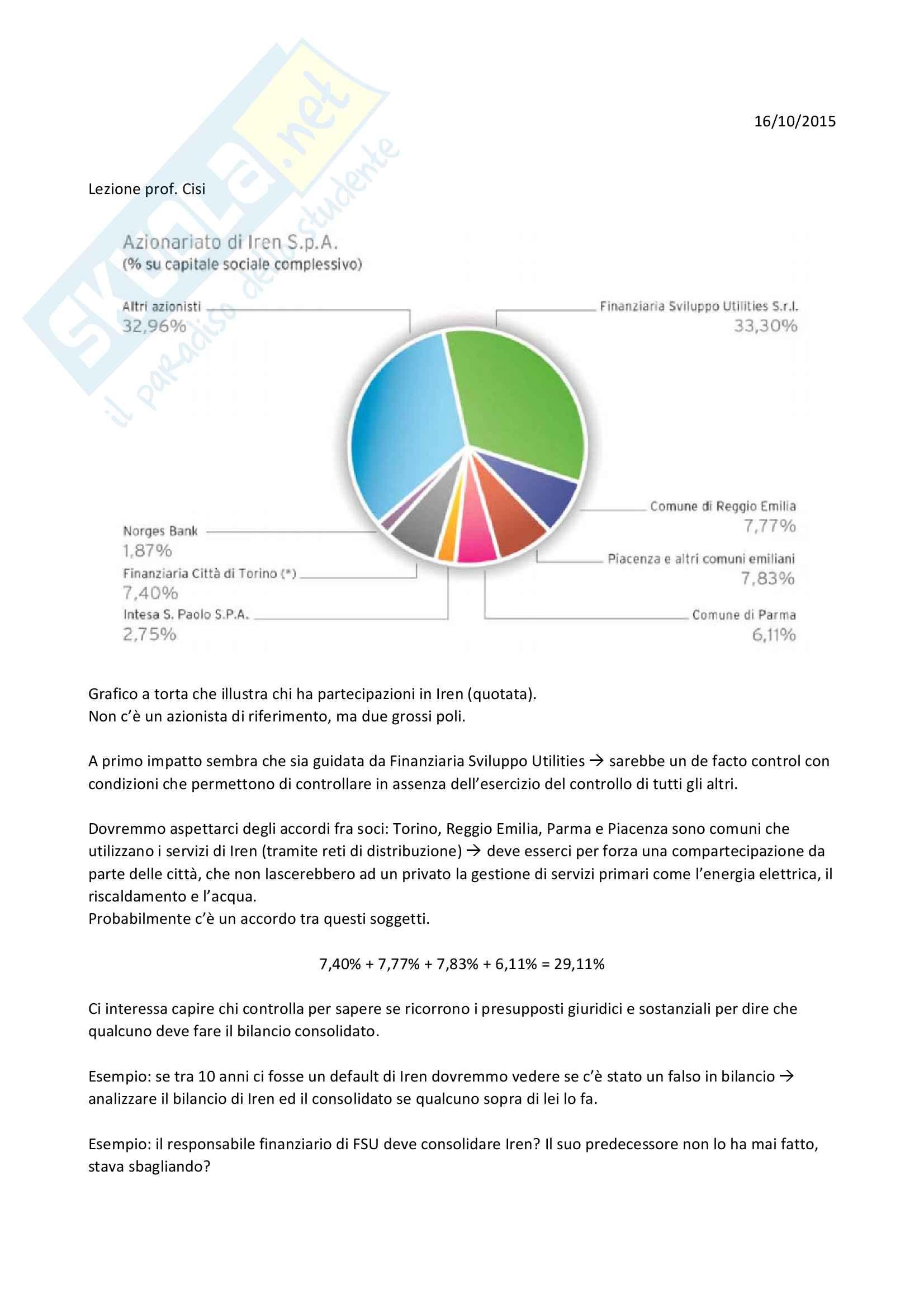 Bilancio consolidato (teoria) Pag. 41