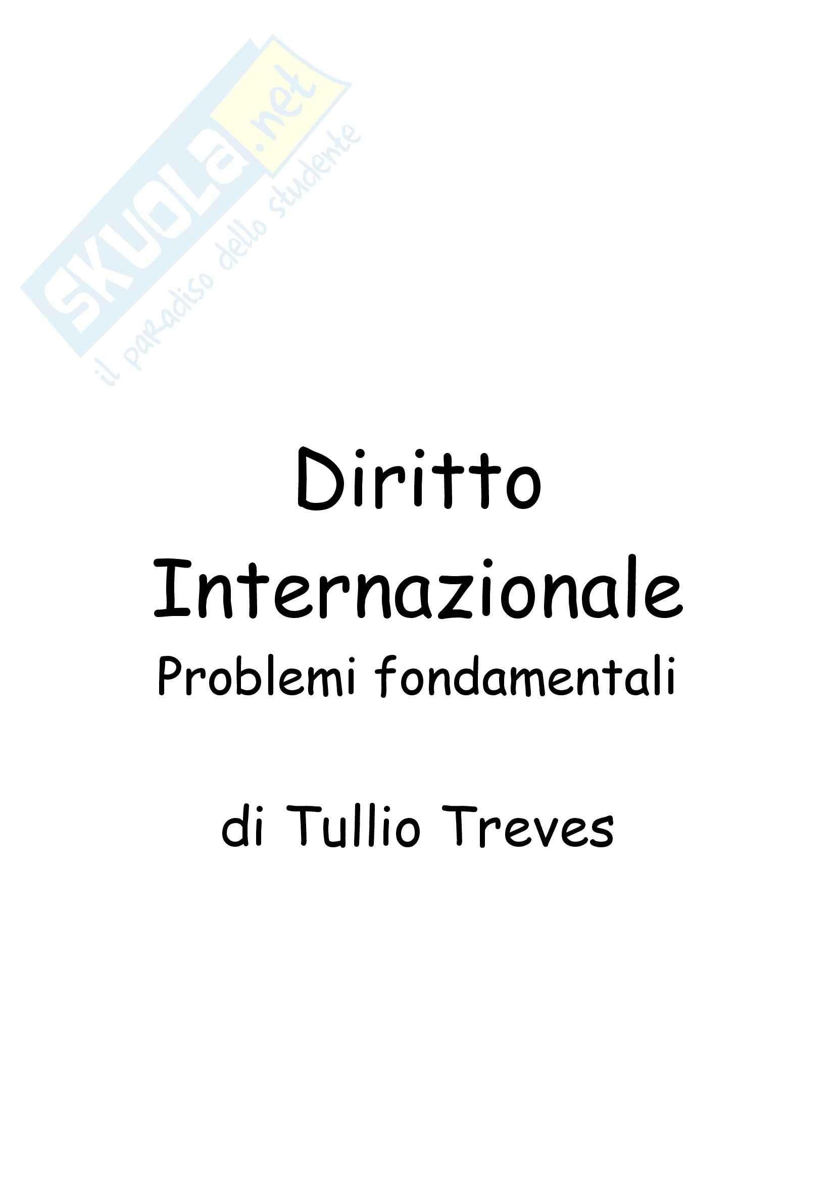 Diritto internazionale - problemi fondamentali