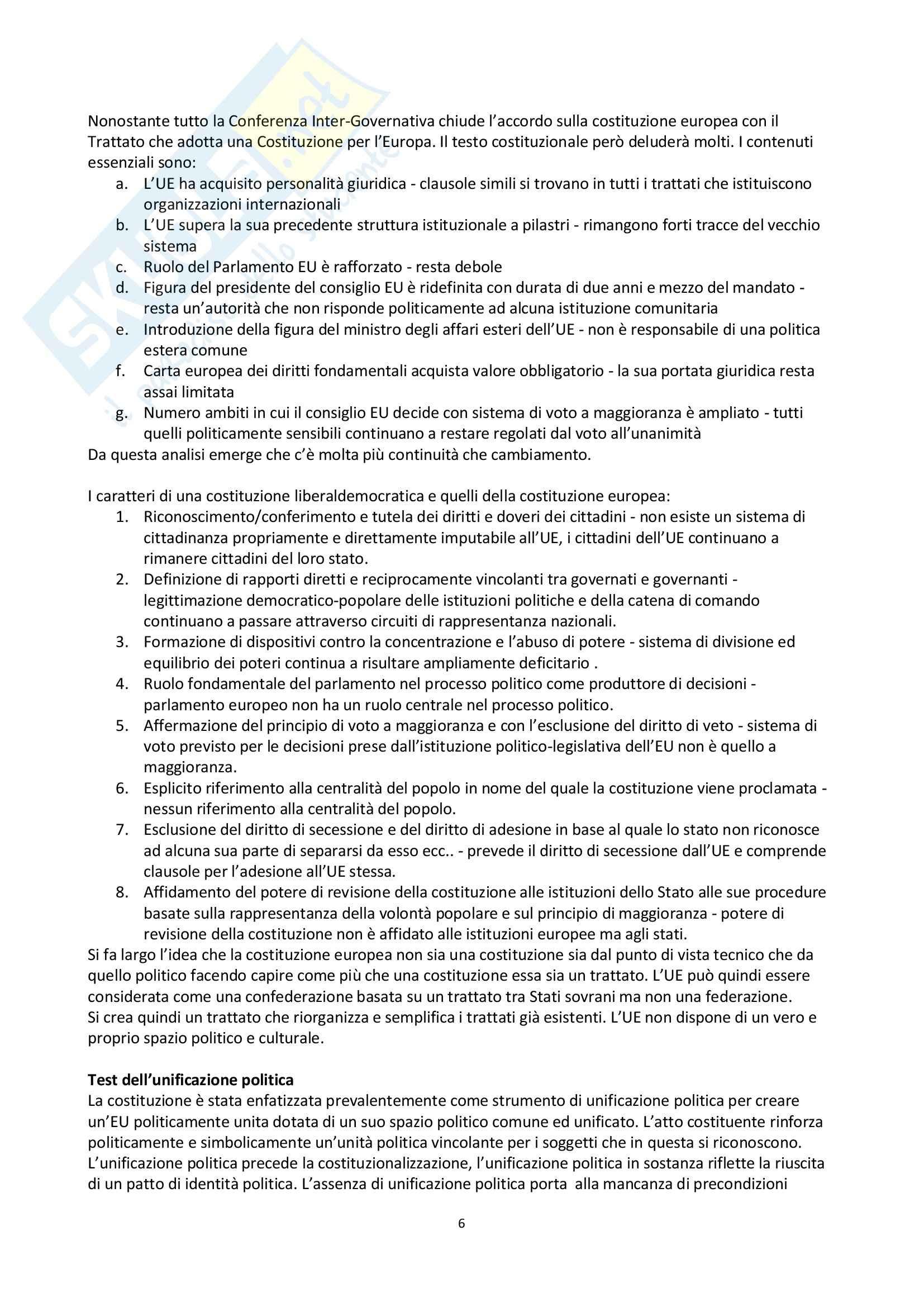 Riassunto esame Scienza politica, prof. Nevola, libro consigliato Democrazia, costituzione, identità, Nevola Pag. 6