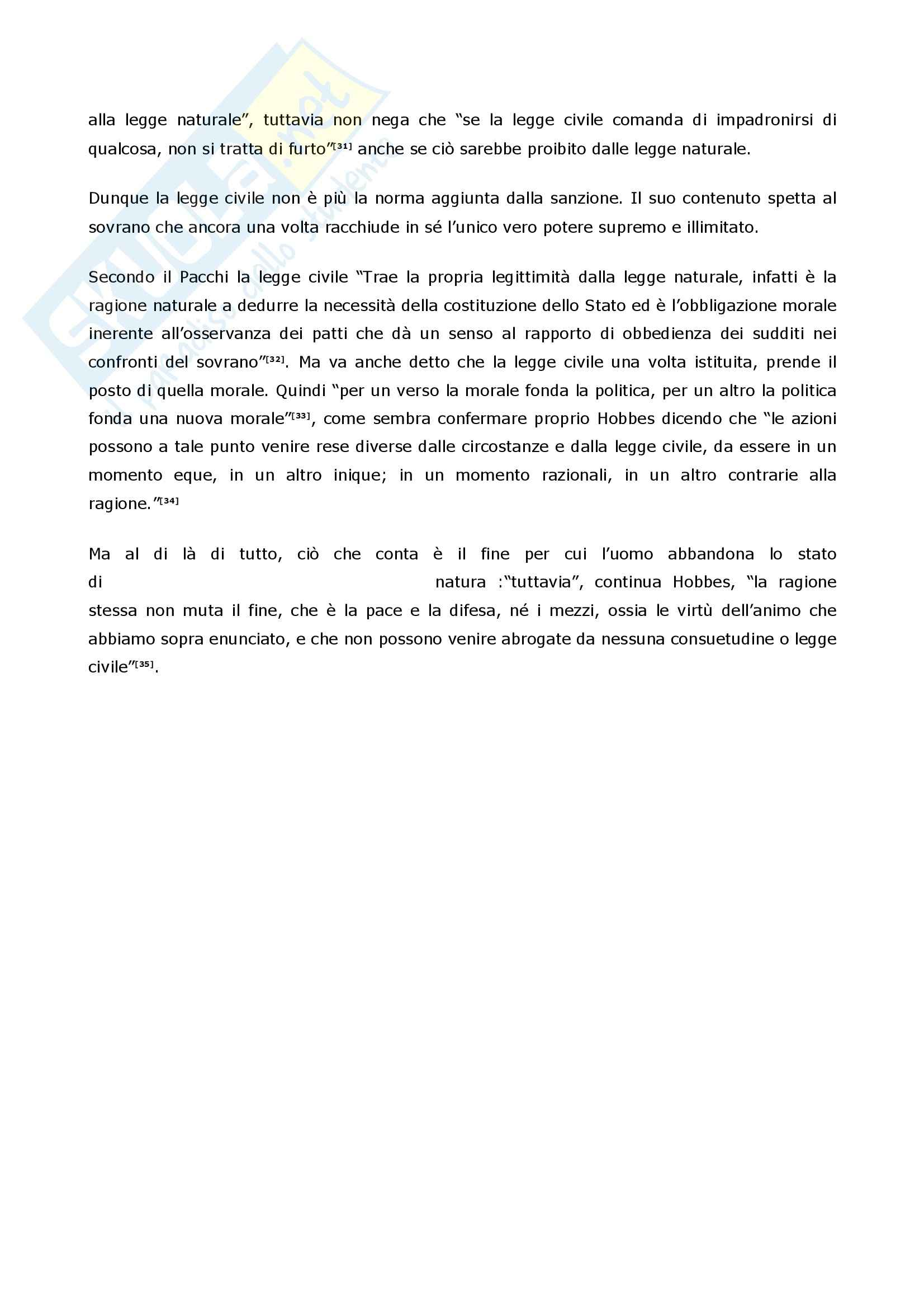 Filosofia delle scienze sociali - Hobbes Pag. 16