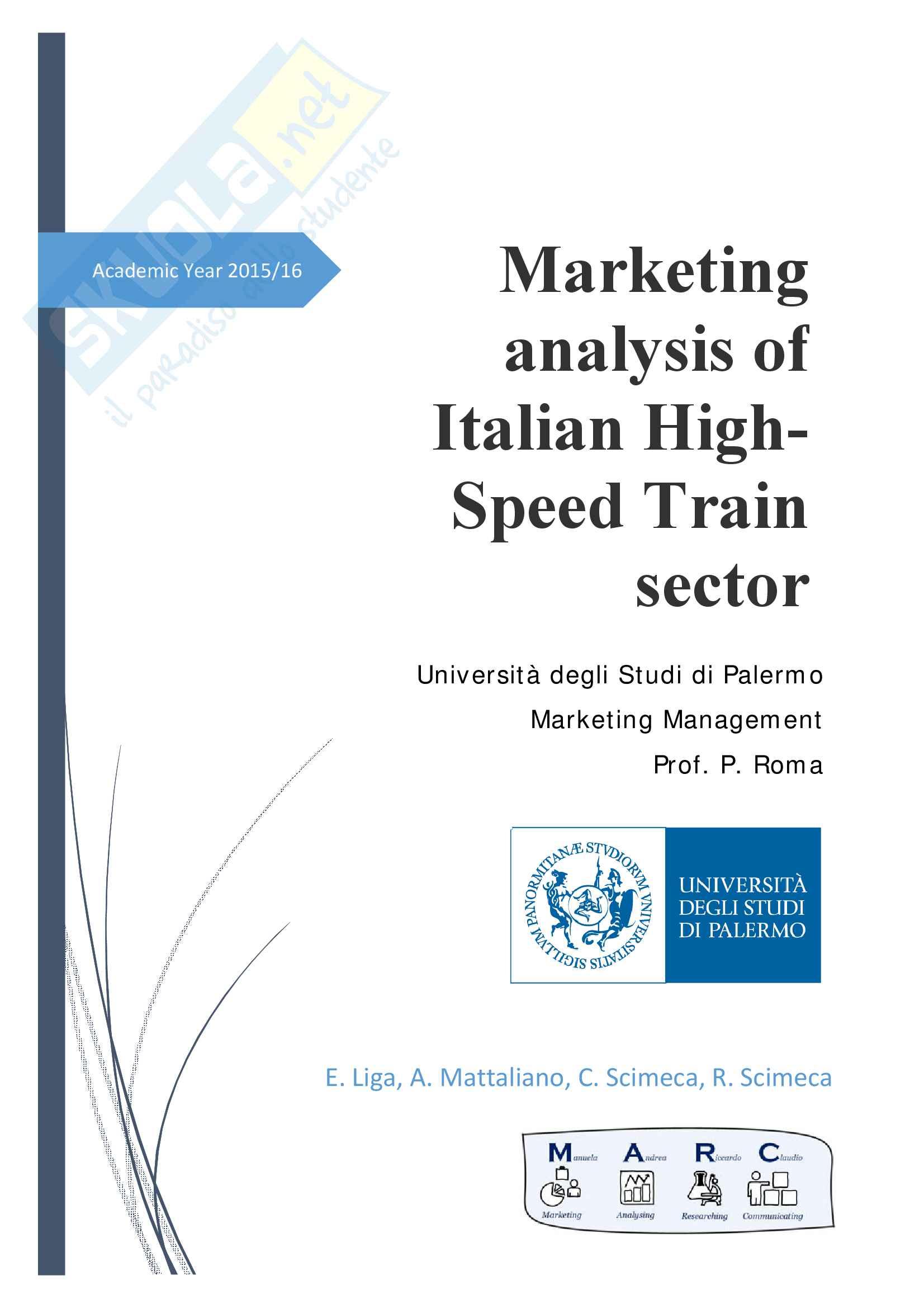 Marketing analysis of Italian HighSpeed Train sector
