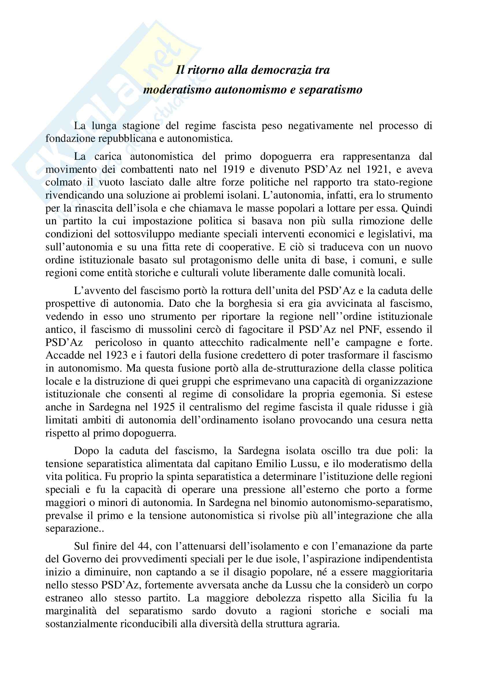 appunto M. Cardia Storia delle istituzioni politiche