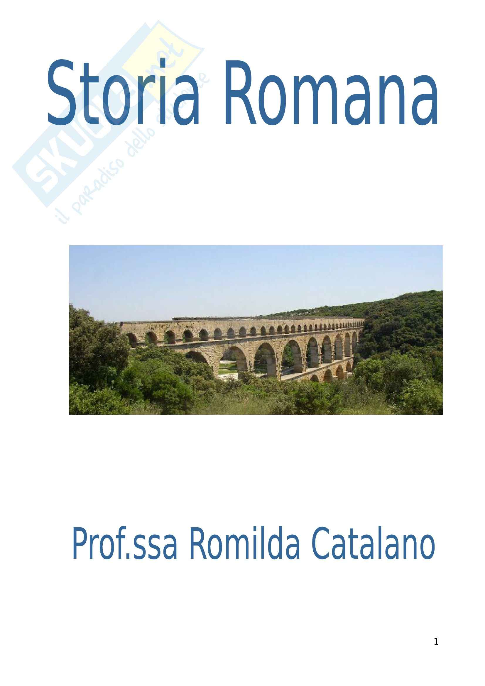 Riassunto esame Storia Romana, prof. Catalano, libro consigliato Acqua e Acquedotti Romani. Fontis Augustei Aquaeductus