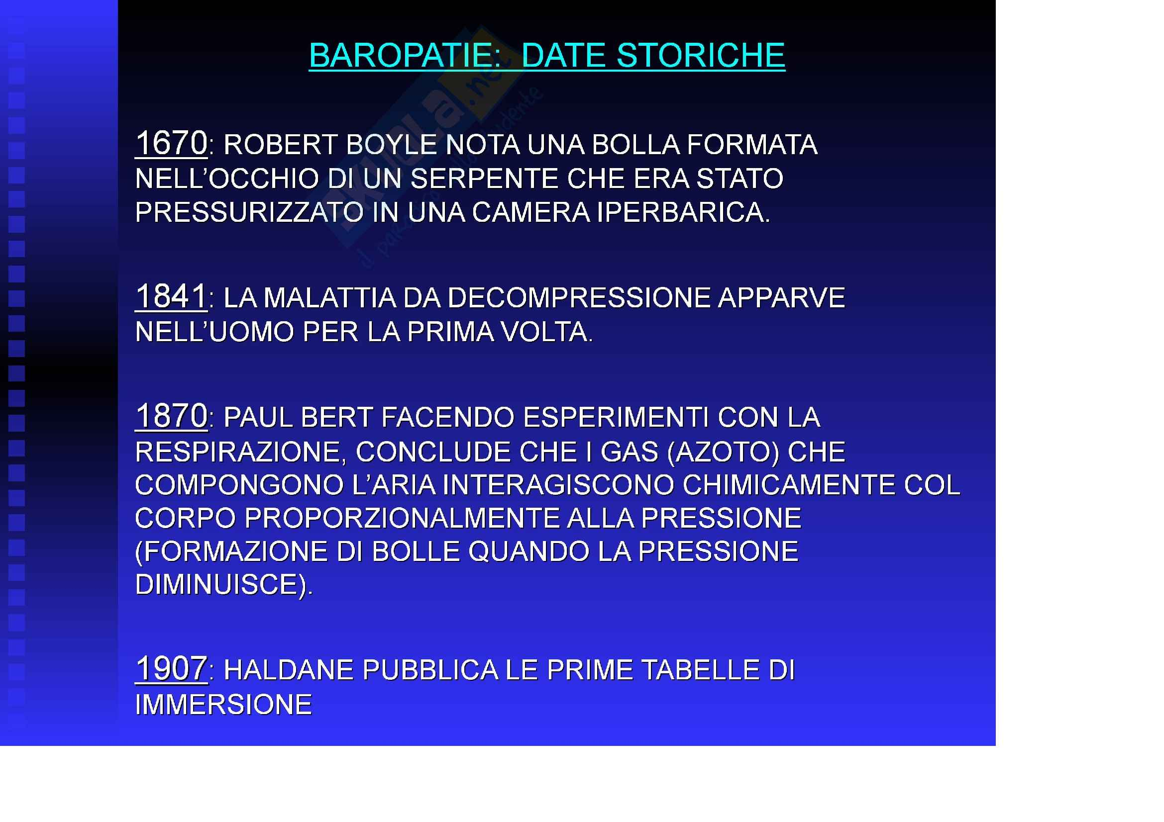 Medicina del lavoro – Baropatie