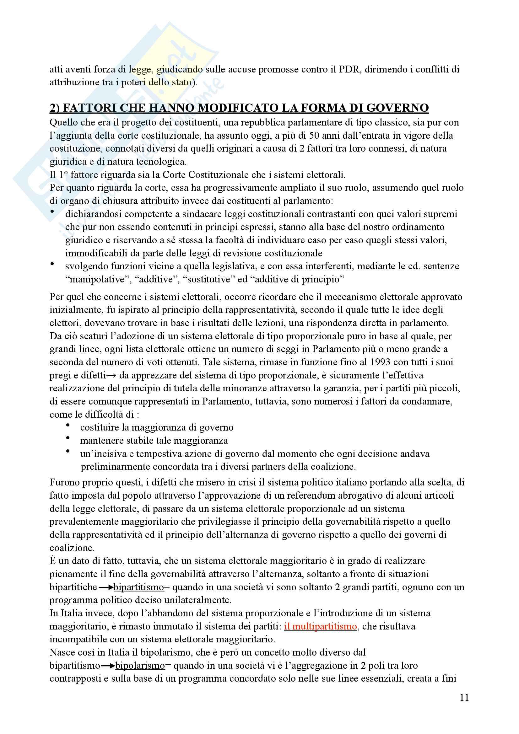 Riassunto esame Diritto parlamentare, Libro consigliato Cicconetti Pag. 11