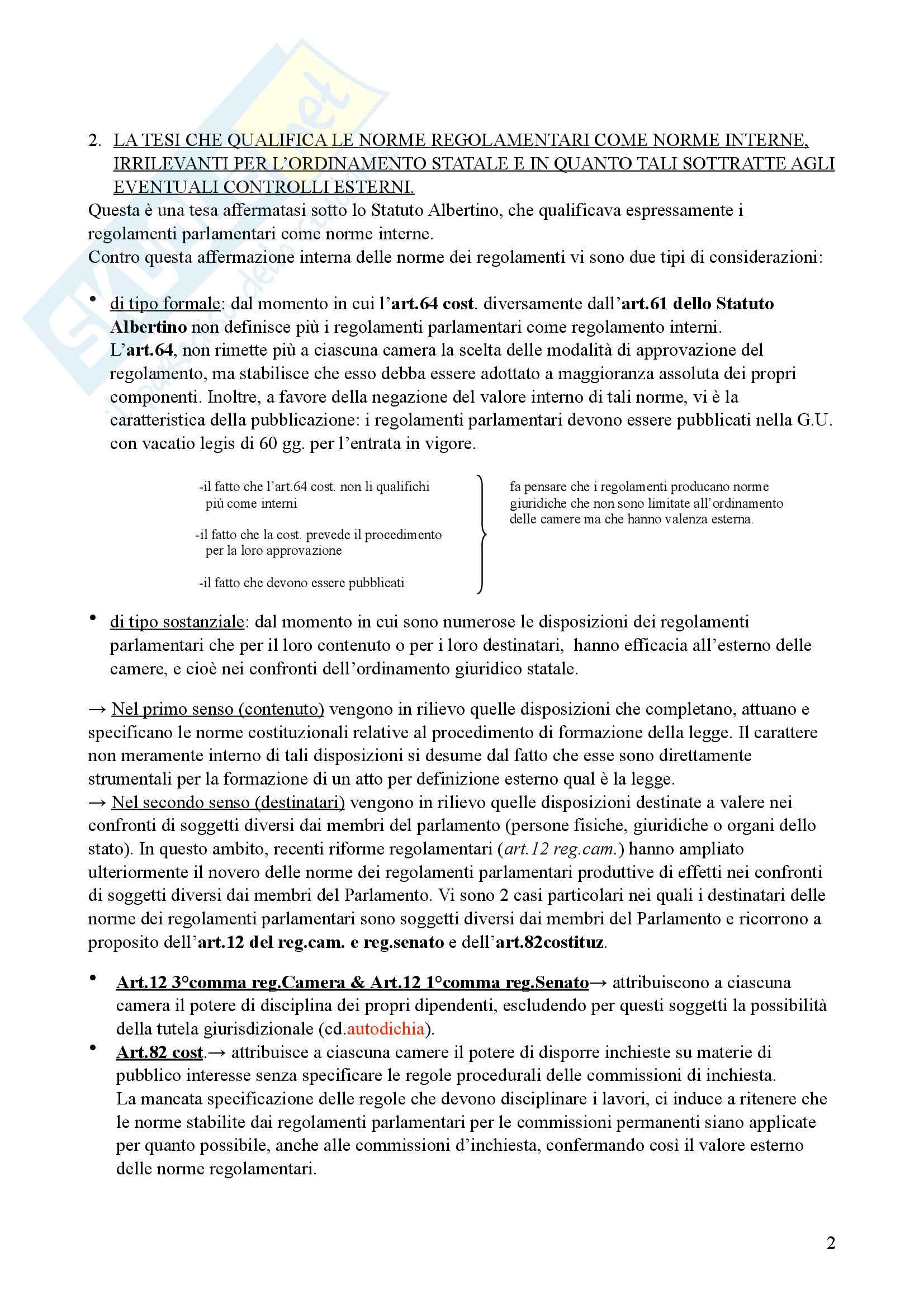Riassunto esame Diritto parlamentare, Libro consigliato Cicconetti Pag. 2