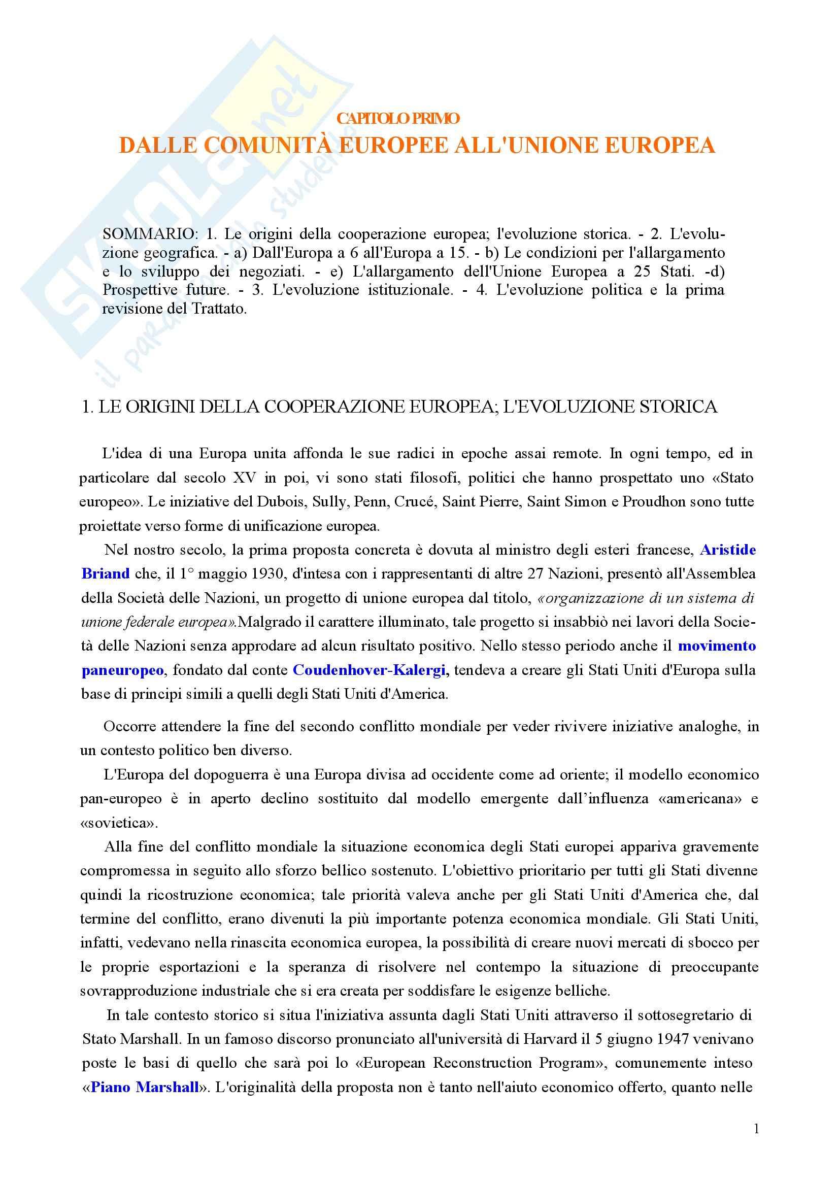 Riassunto esame Diritto, prof. Nicolosi, libro consigliato Istituzioni di diritto dell'Unione Europea: Verso una Costituzione europea, Zanghì
