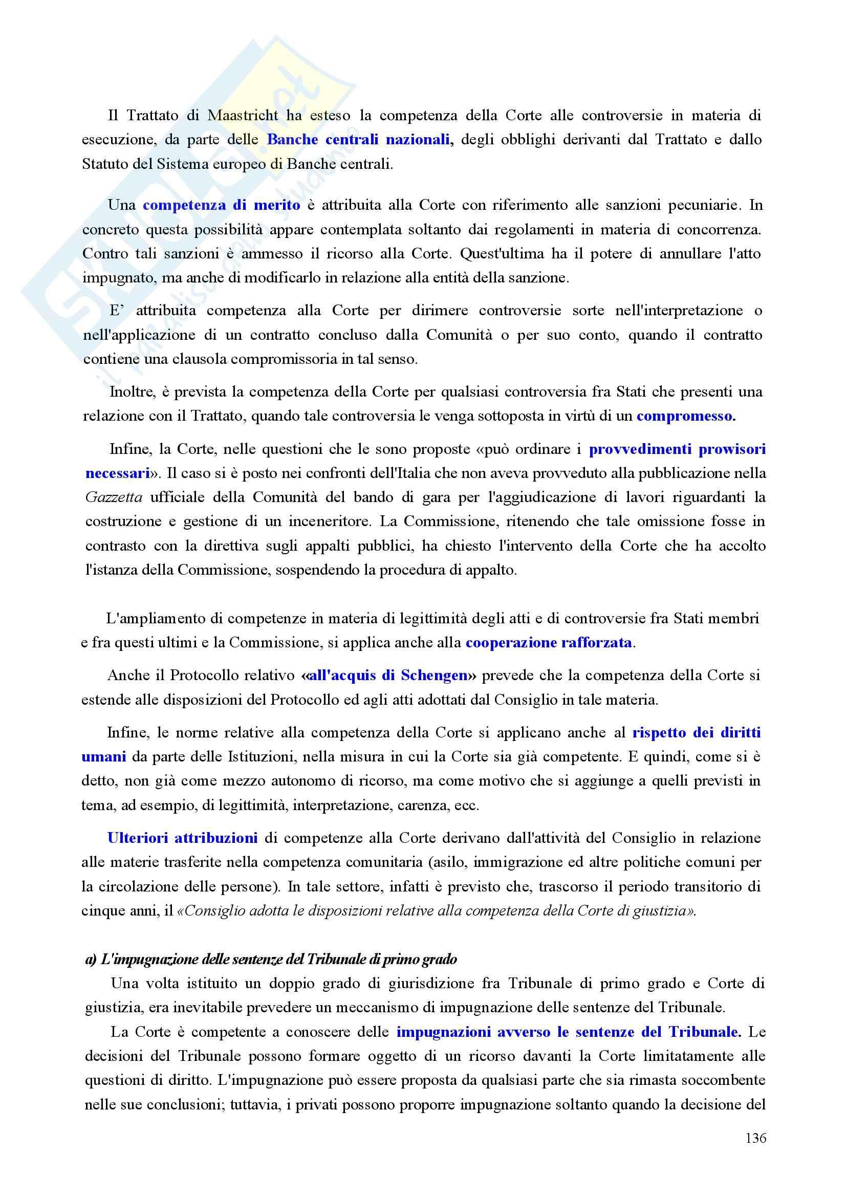 Riassunto esame Diritto, prof. Nicolosi, libro consigliato Istituzioni di diritto dell'Unione Europea: Verso una Costituzione europea, Zanghì Pag. 136