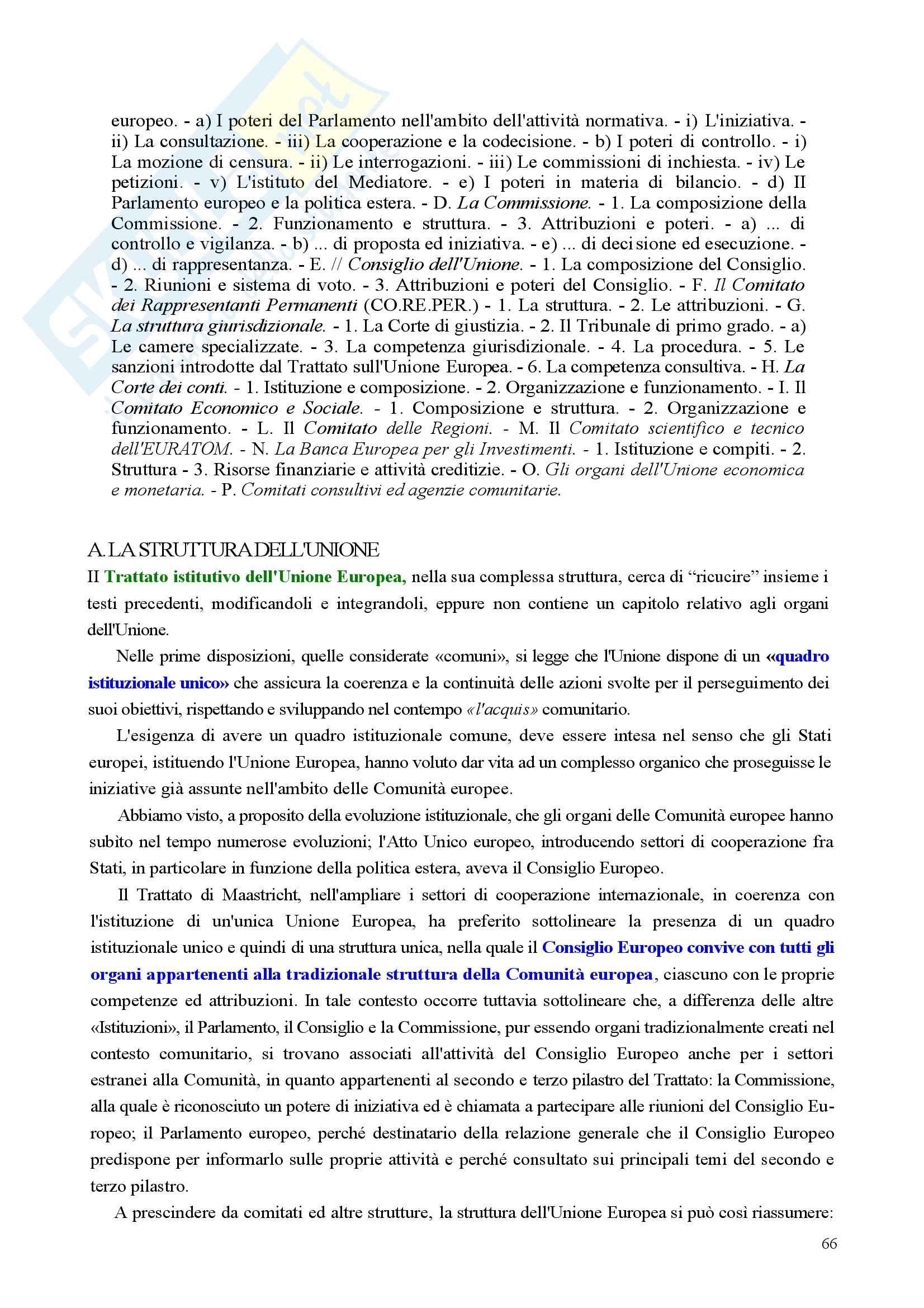 Riassunto esame Diritto, prof. Nicolosi, libro consigliato Istituzioni di diritto dell'Unione Europea: Verso una Costituzione europea, Zanghì Pag. 66