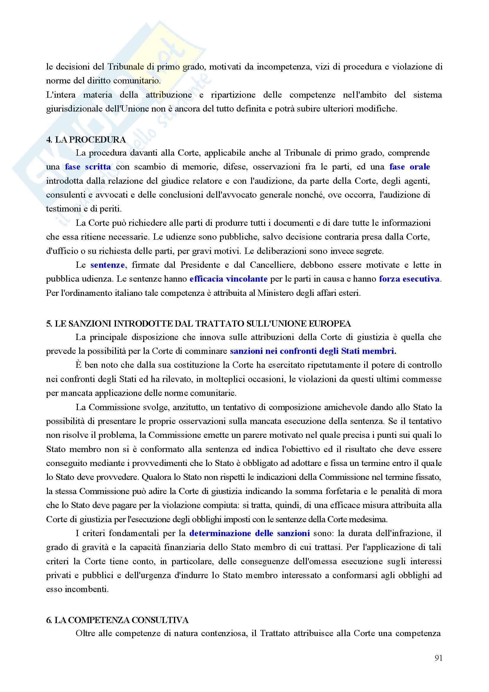 Riassunto esame Diritto, prof. Nicolosi, libro consigliato Istituzioni di diritto dell'Unione Europea: Verso una Costituzione europea, Zanghì Pag. 91