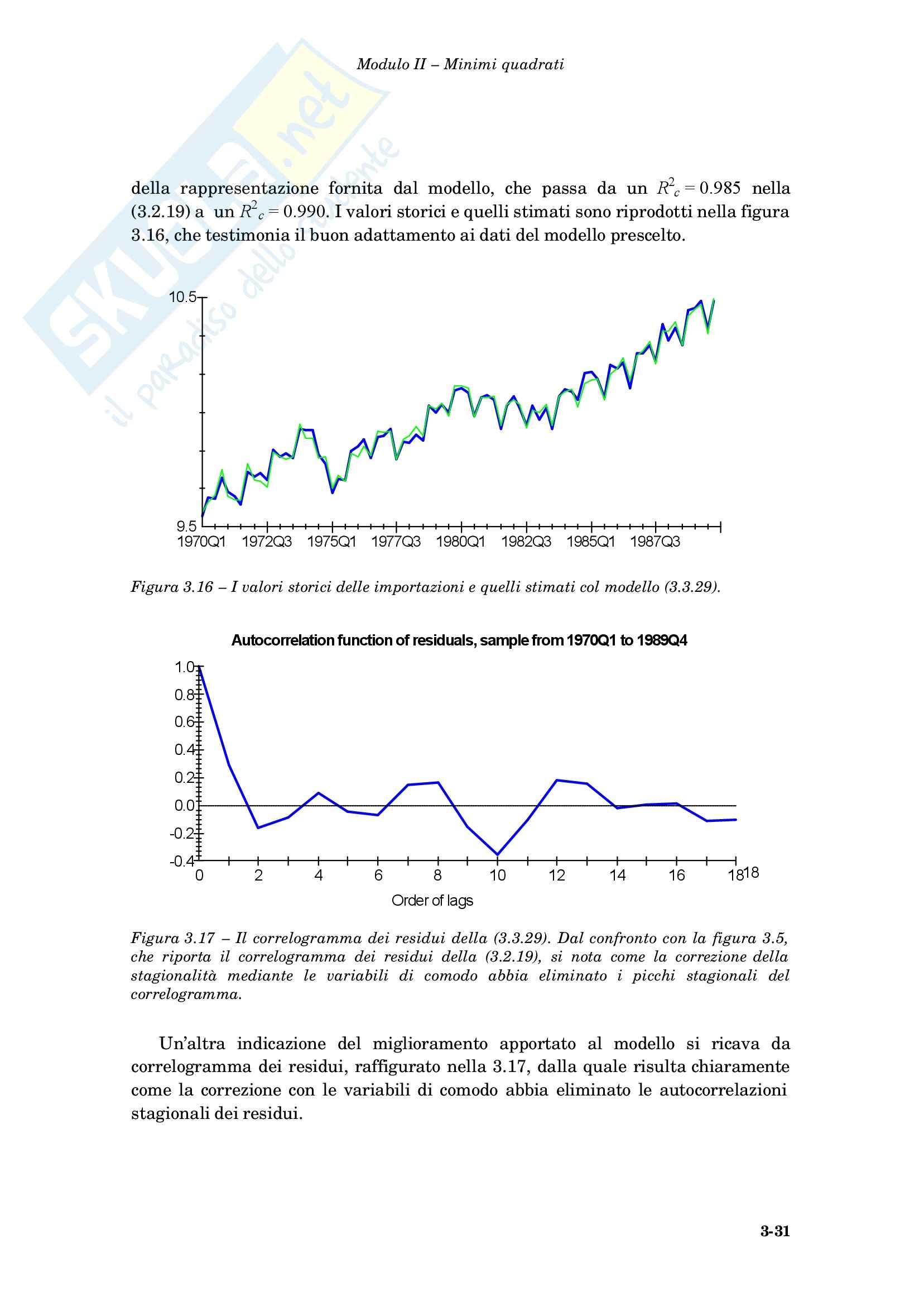Econometria - le variabili di comodo Pag. 31