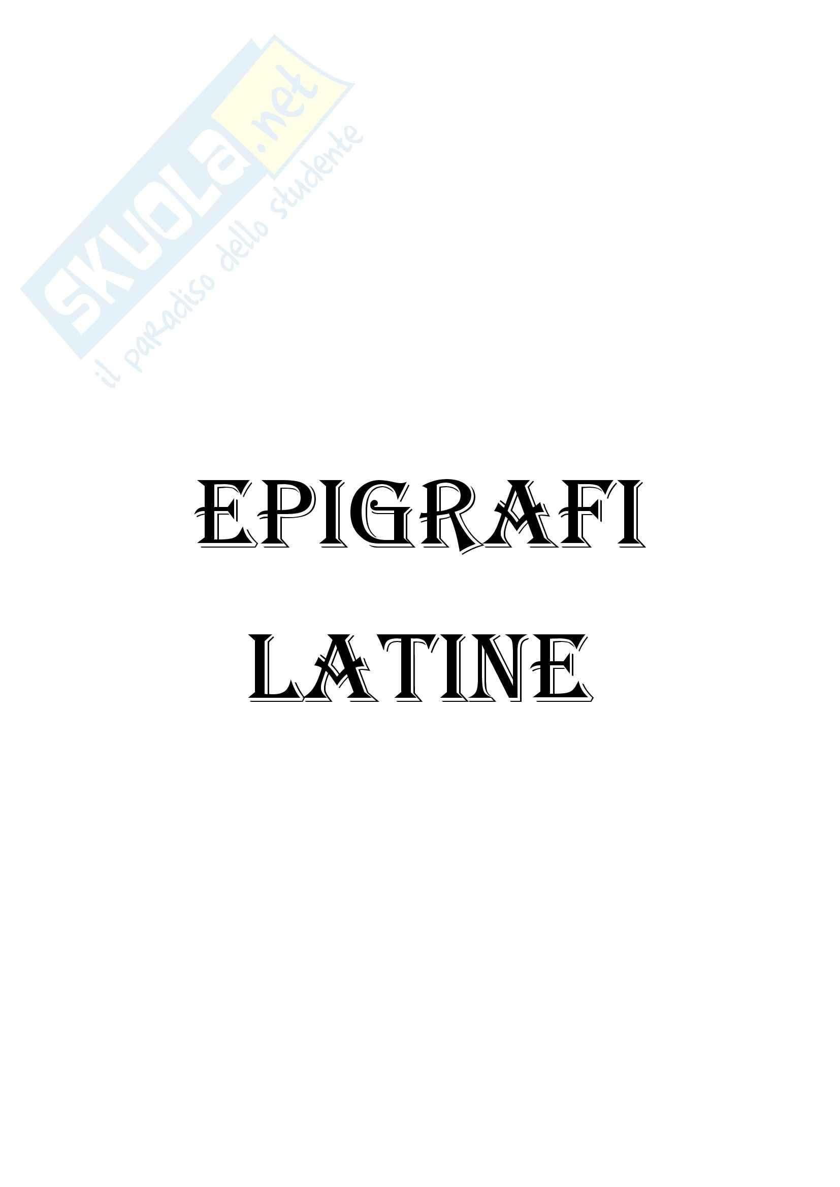 Storia romana - Epigrafi latine