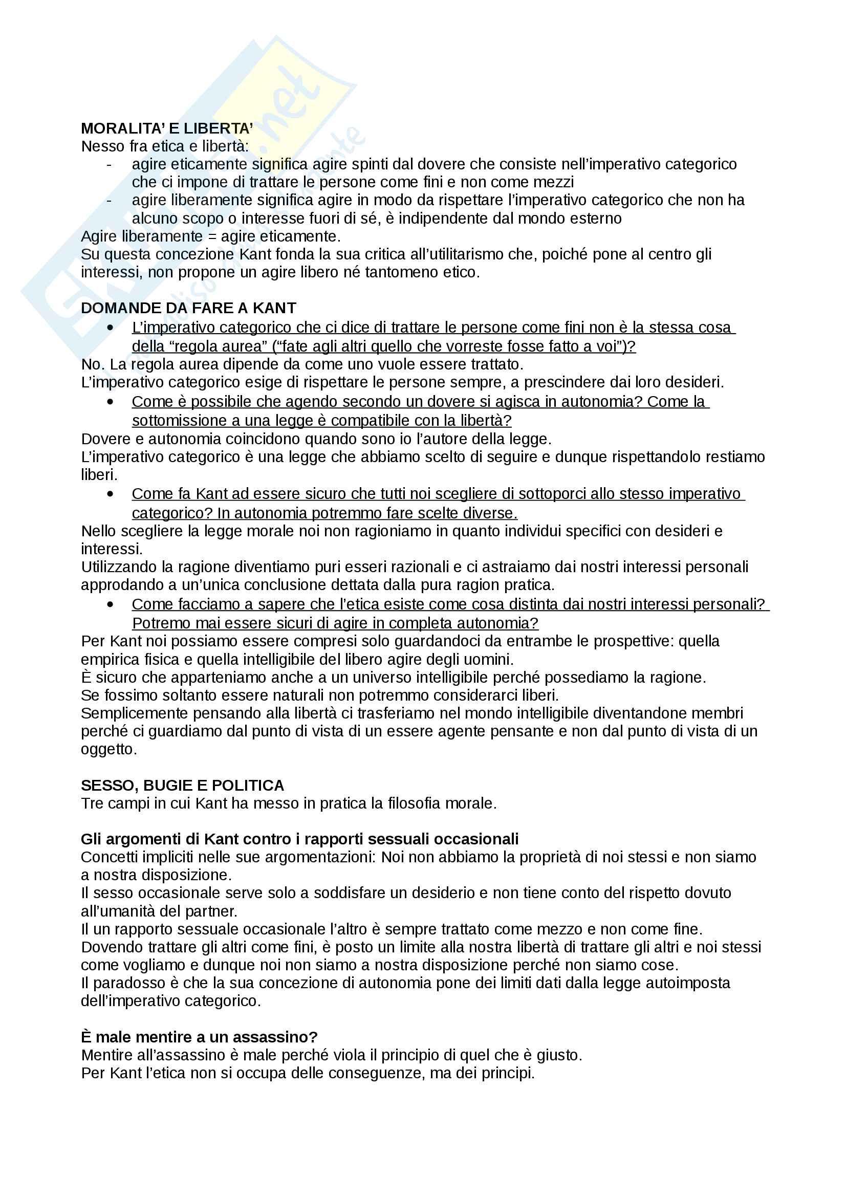 Sunto di filosofia del diritto, prof. Ricciardi, libro consigliato: Giustizia, di Michael Sandel Pag. 16