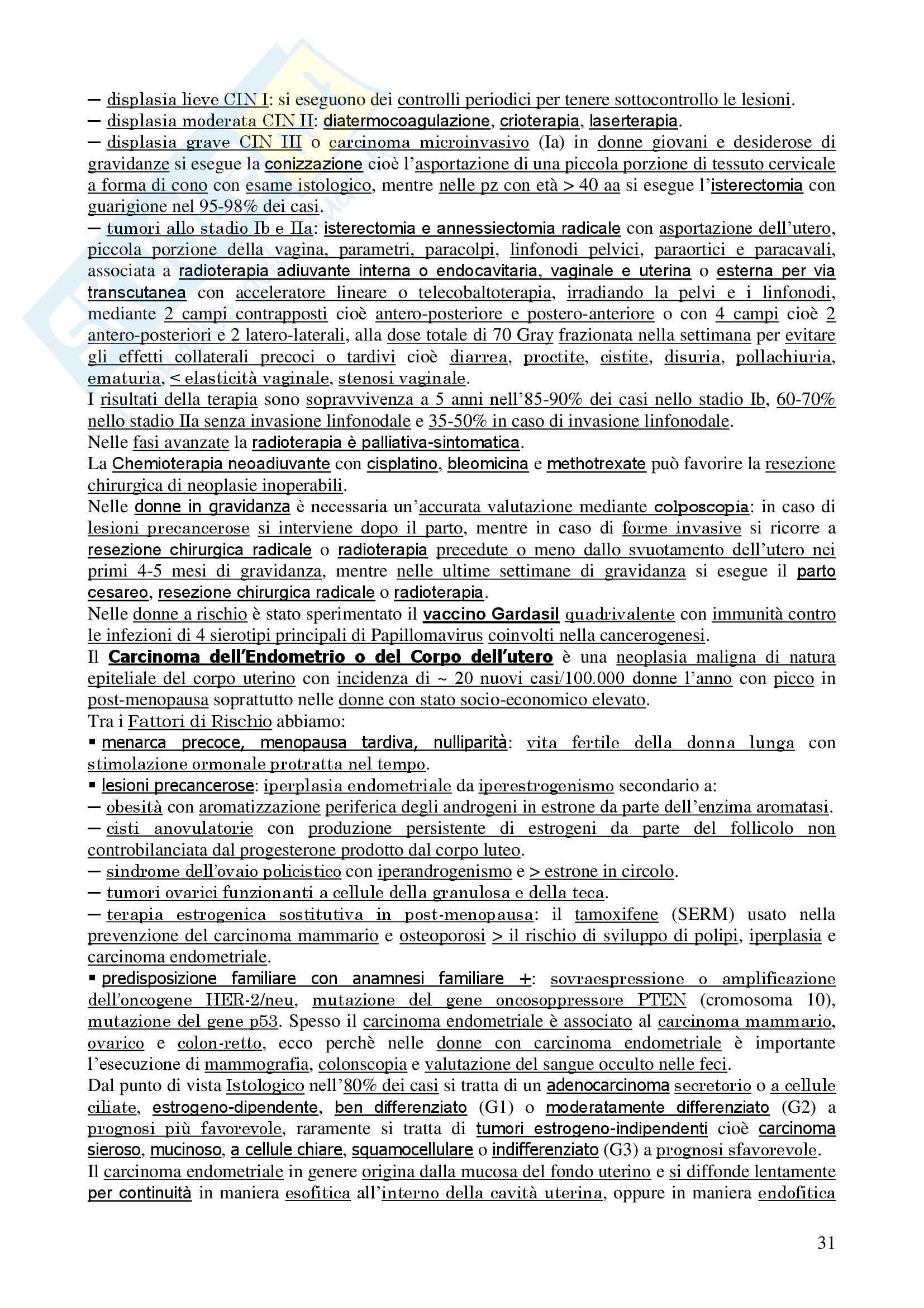 Ginecologia e Ostetricia - Appunti Pag. 31