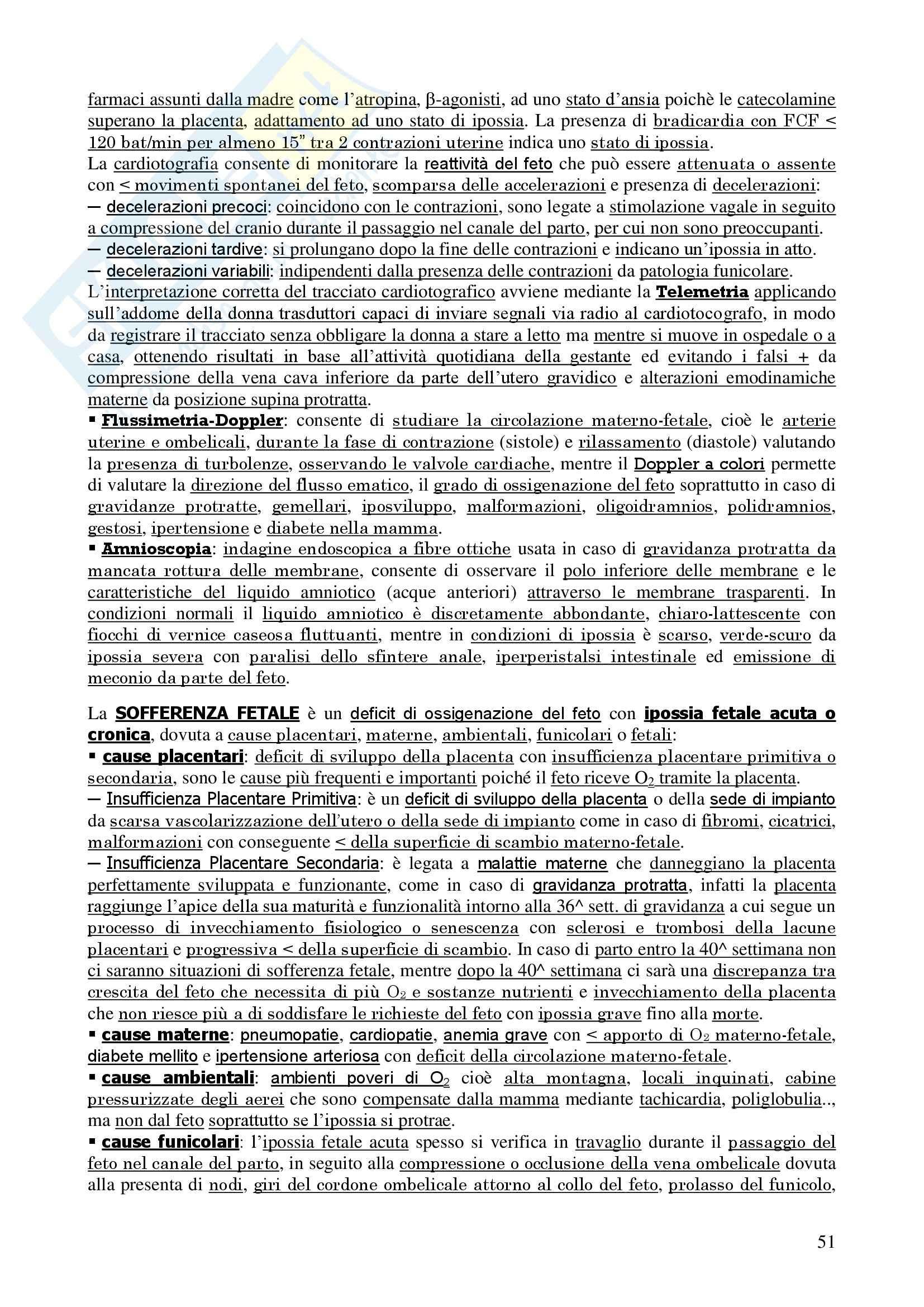 Ginecologia e Ostetricia - Appunti Pag. 51