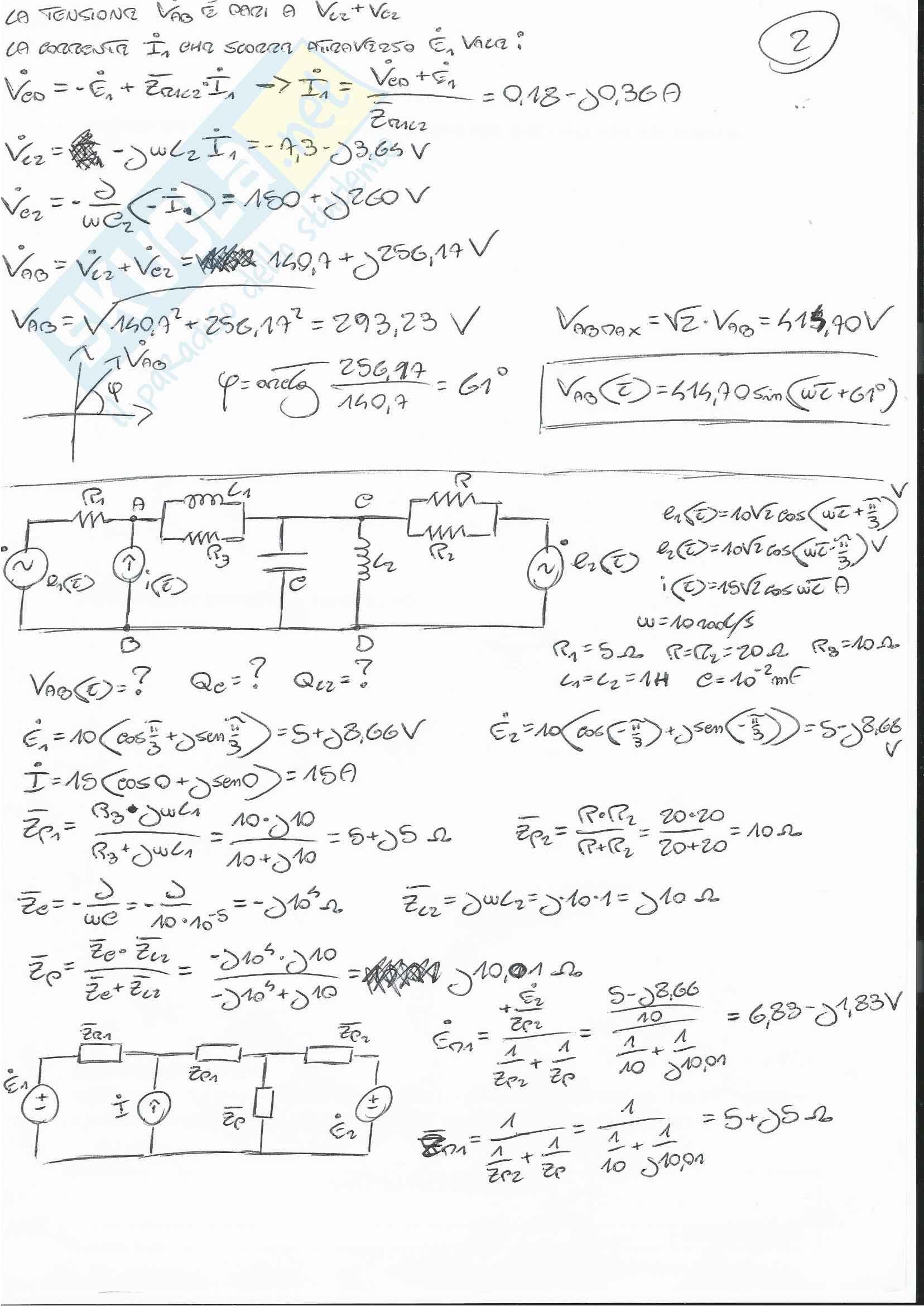 Esercizi Esame Elettrotecnica Pag. 2
