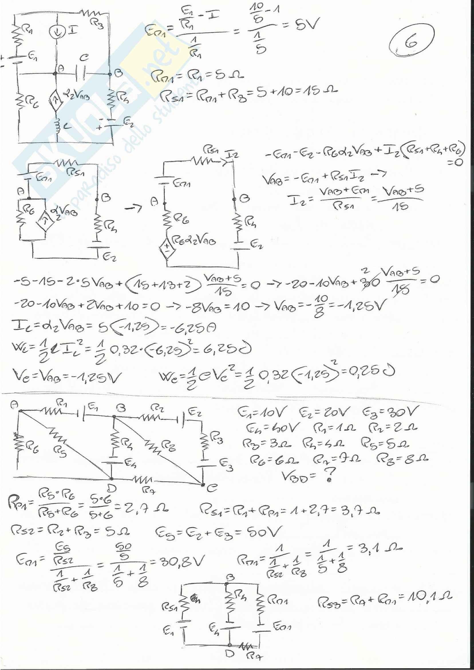 Esercizi Esame Elettrotecnica Pag. 6
