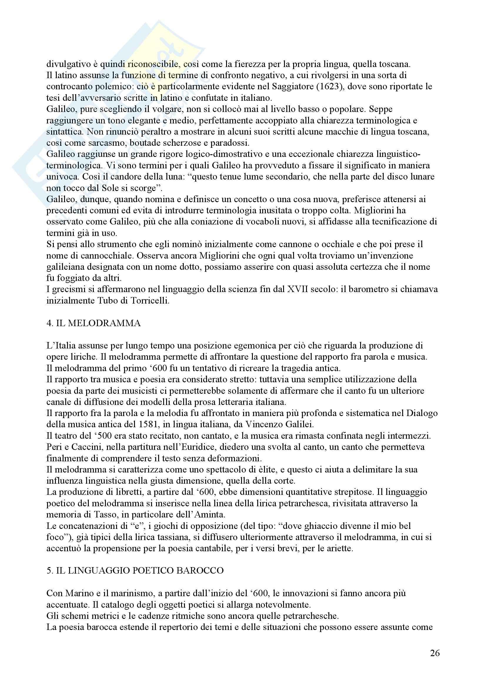 Tecniche espressive e composizione testi in italiano - Claudio Marazzini - breve storia della lingua italiana Pag. 26
