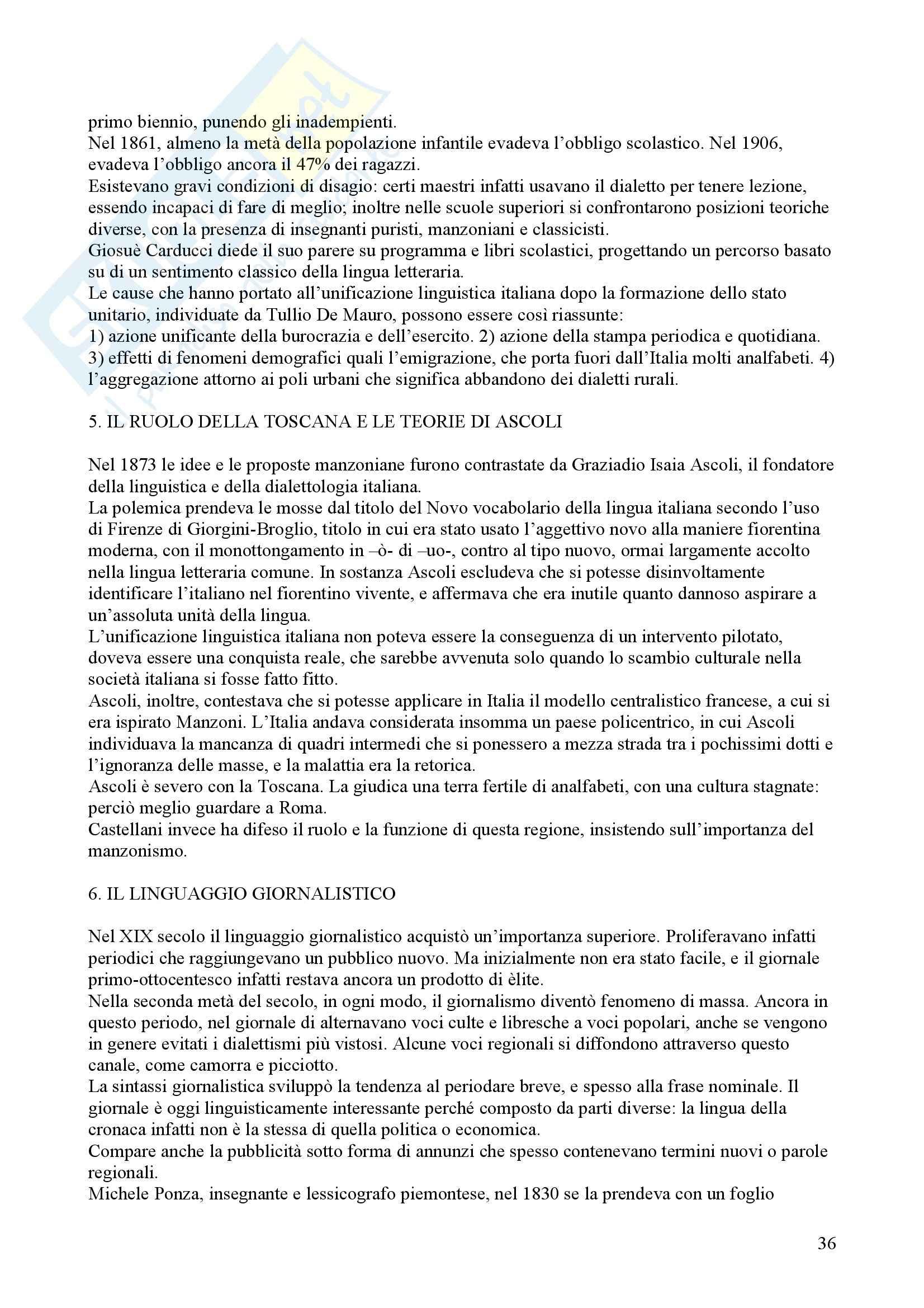 Tecniche espressive e composizione testi in italiano - Claudio Marazzini - breve storia della lingua italiana Pag. 36
