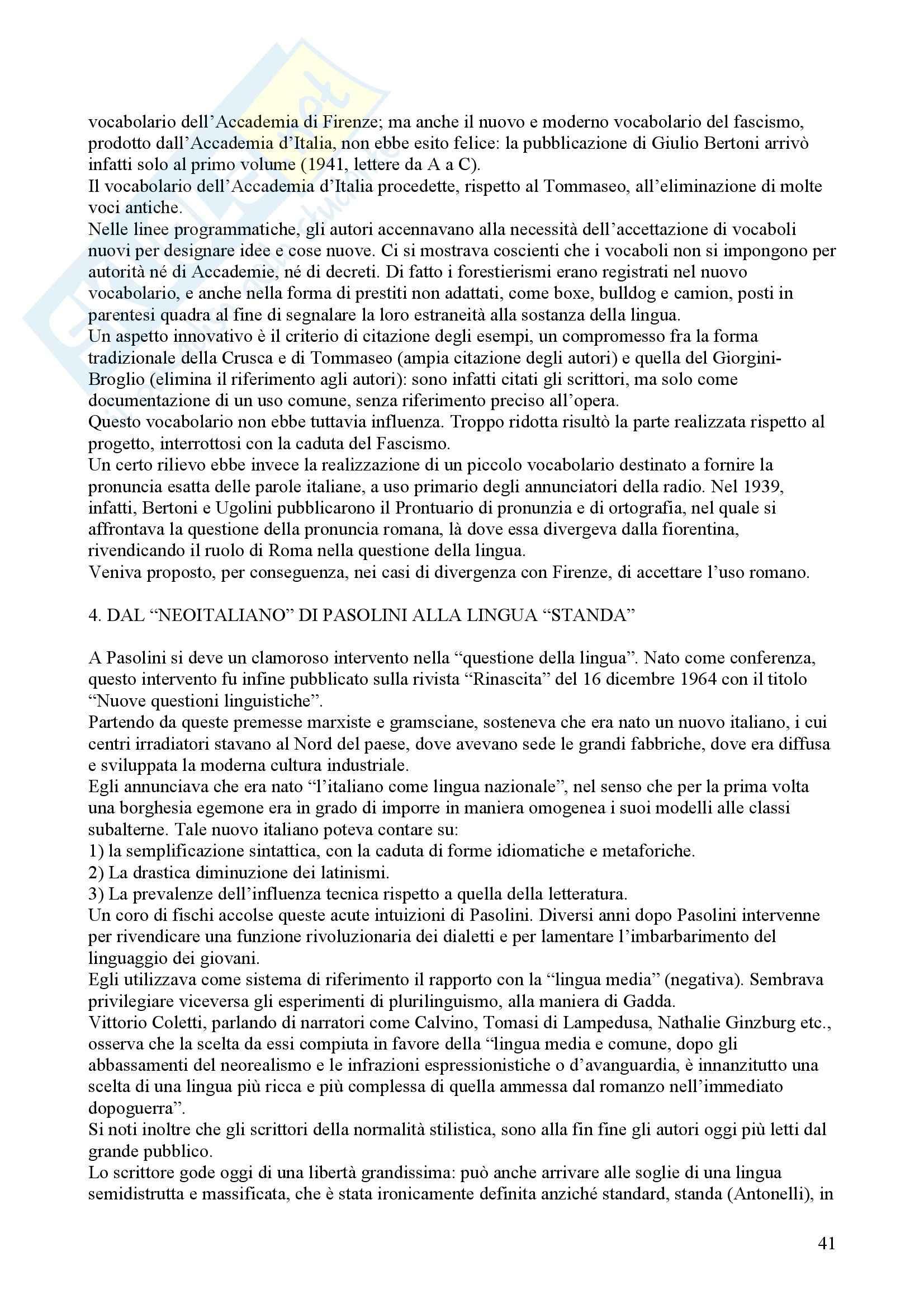 Tecniche espressive e composizione testi in italiano - Claudio Marazzini - breve storia della lingua italiana Pag. 41