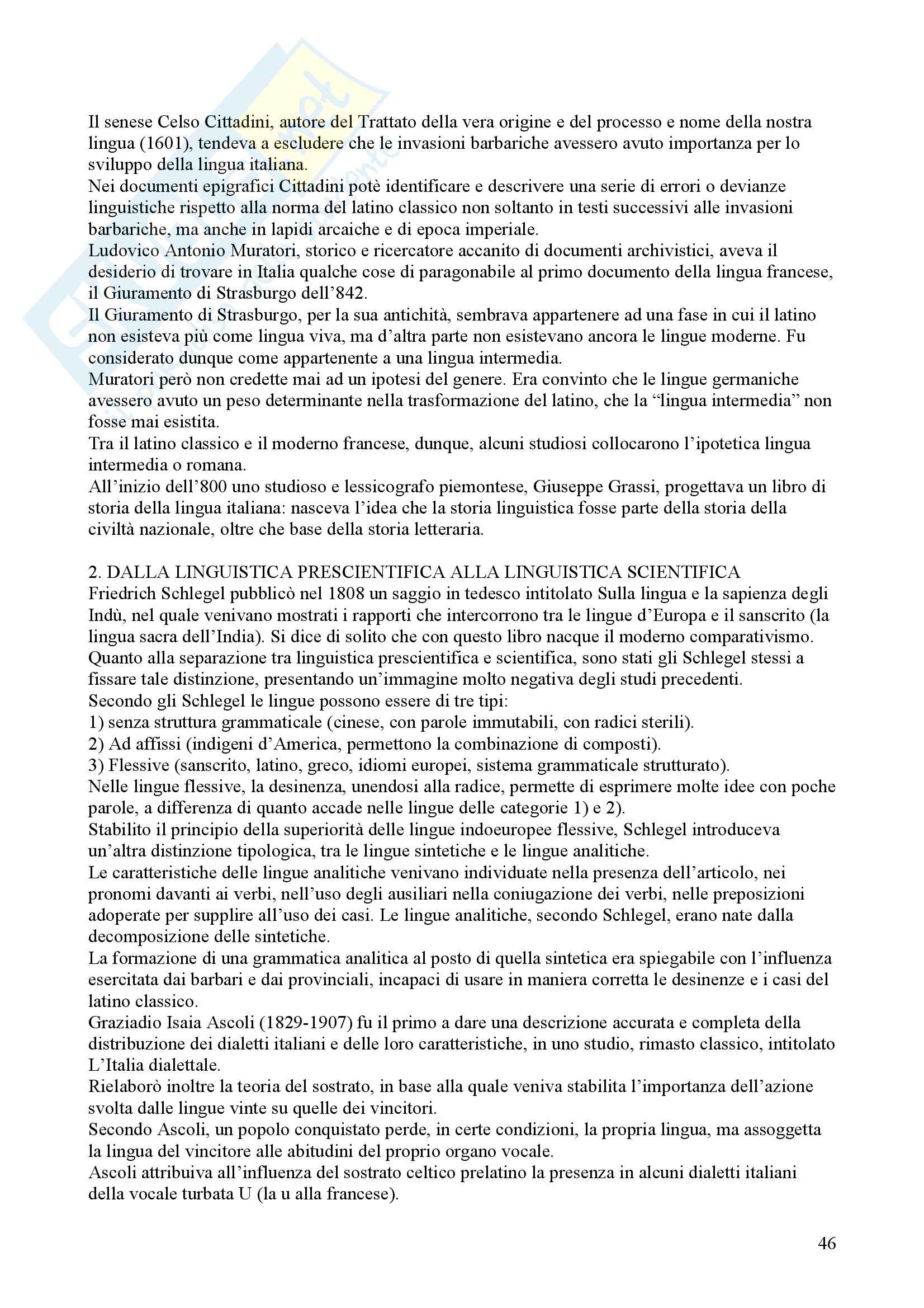 Tecniche espressive e composizione testi in italiano - Claudio Marazzini - breve storia della lingua italiana Pag. 46