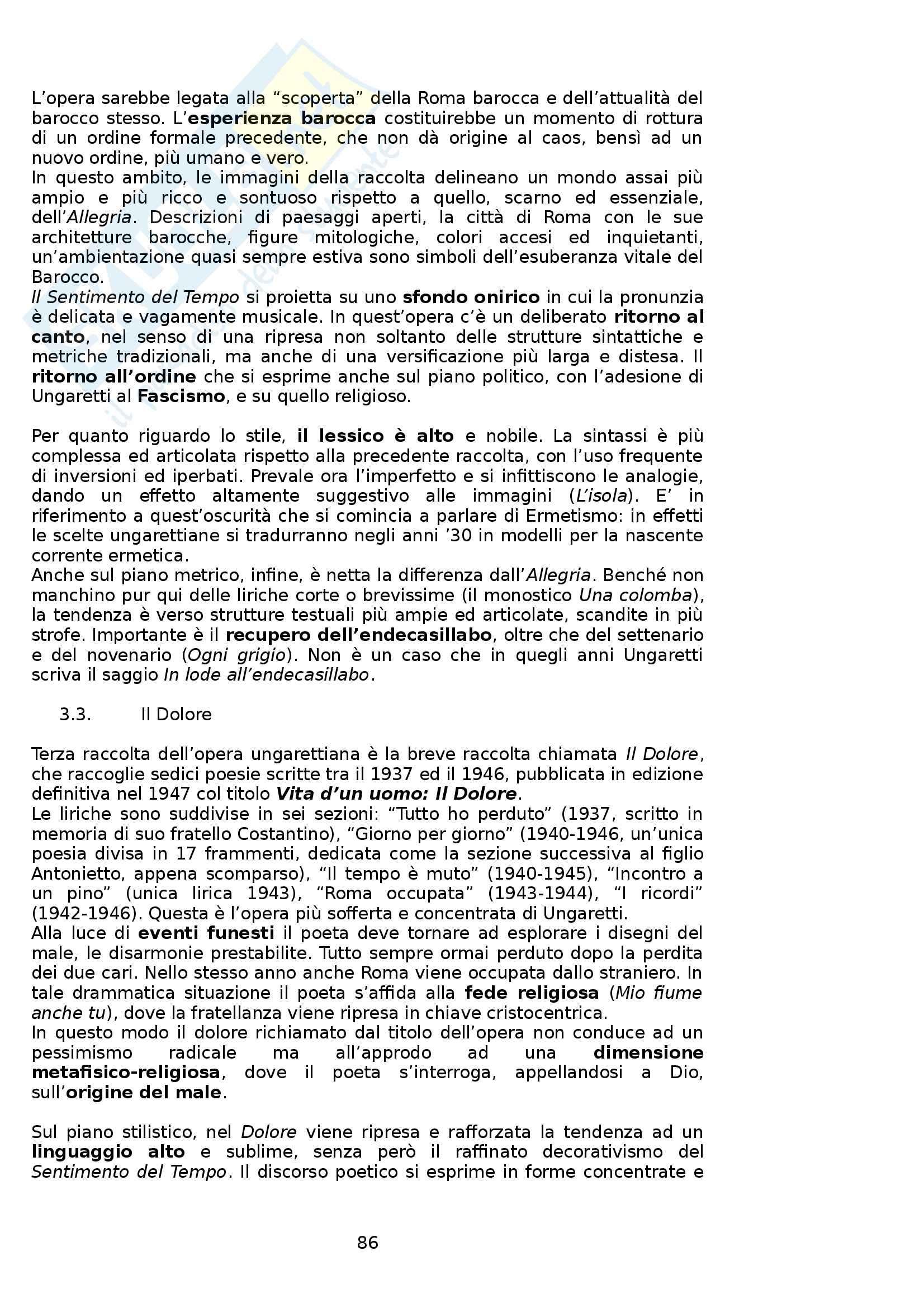 Riassunto esame Letteratura Italiana, prof. Boggione, libro consigliato Storia ed Antologia della Letteratura, Barberi Squarotti Pag. 86