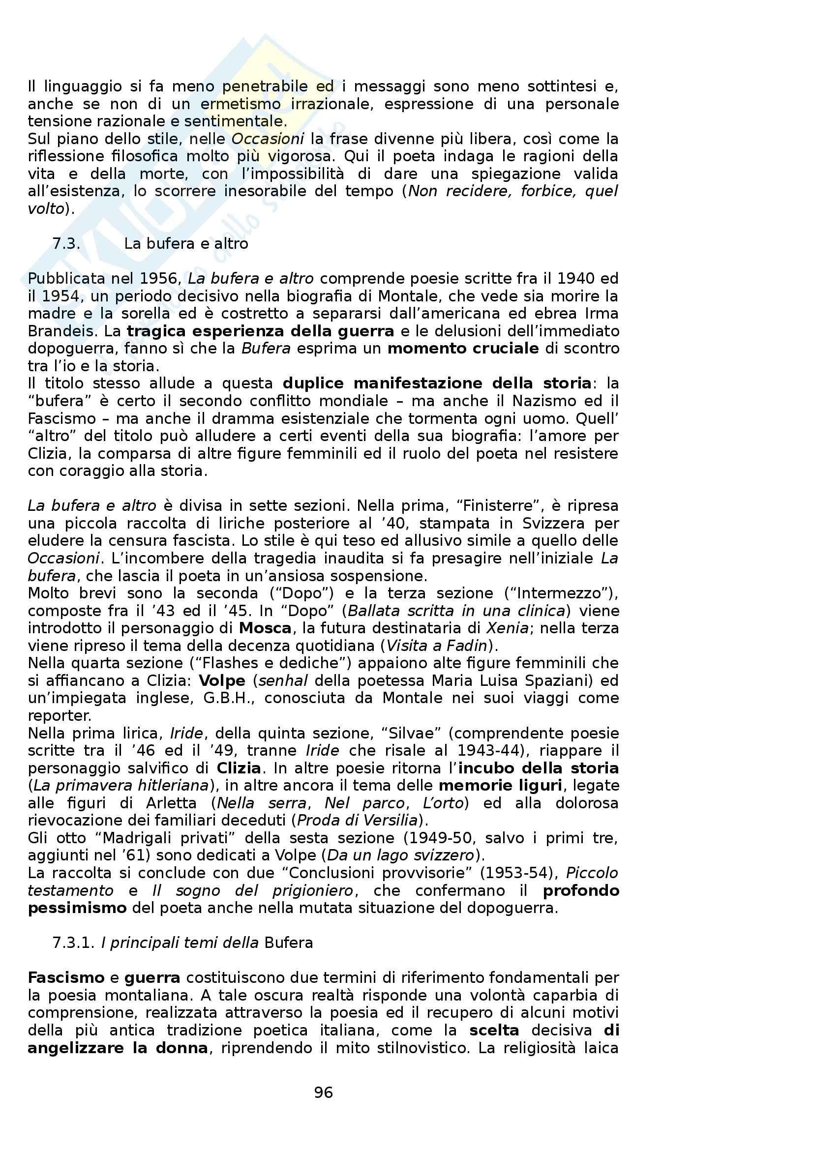 Riassunto esame Letteratura Italiana, prof. Boggione, libro consigliato Storia ed Antologia della Letteratura, Barberi Squarotti Pag. 96
