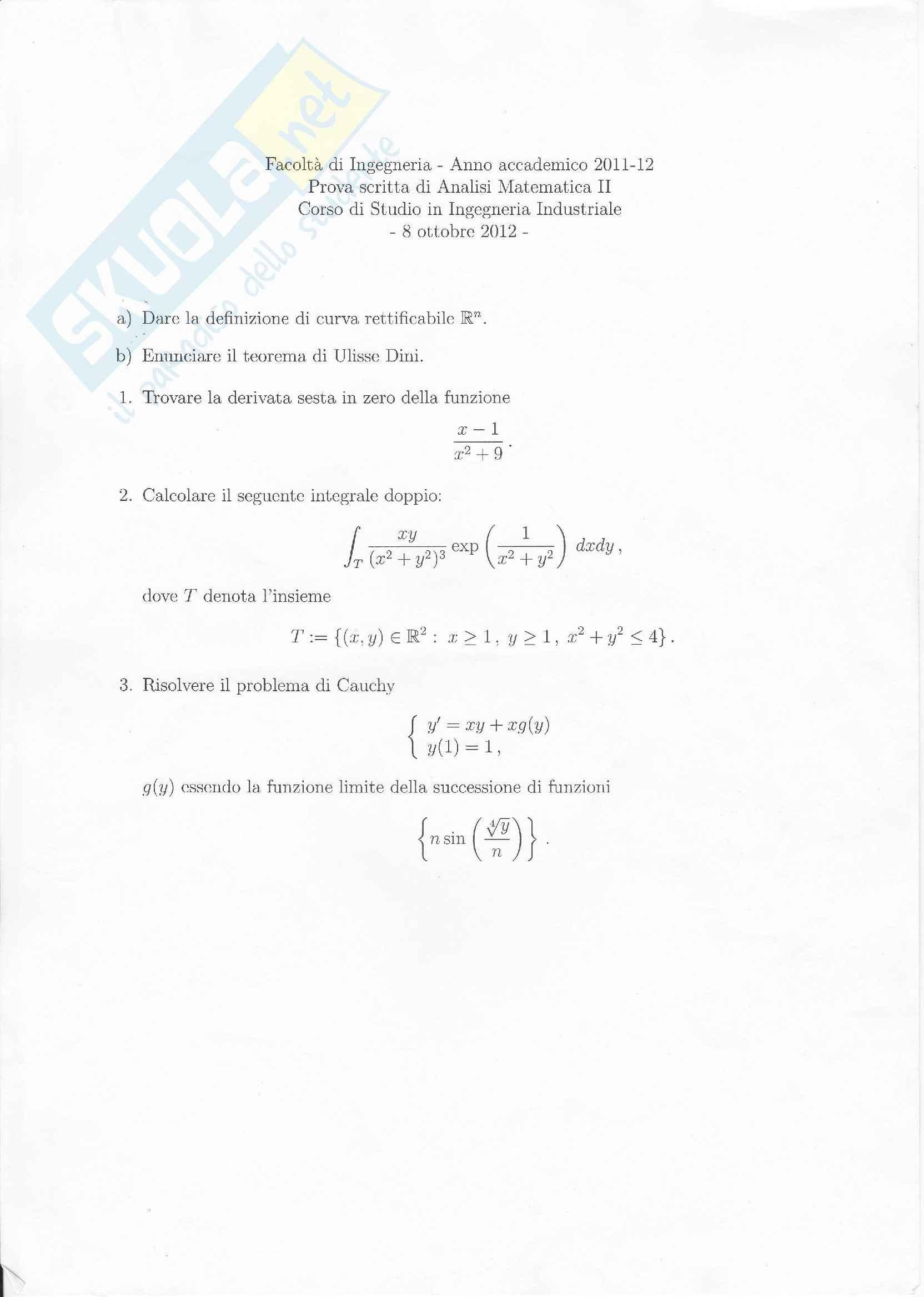 Analisi matematica 2 - l'integrale doppio
