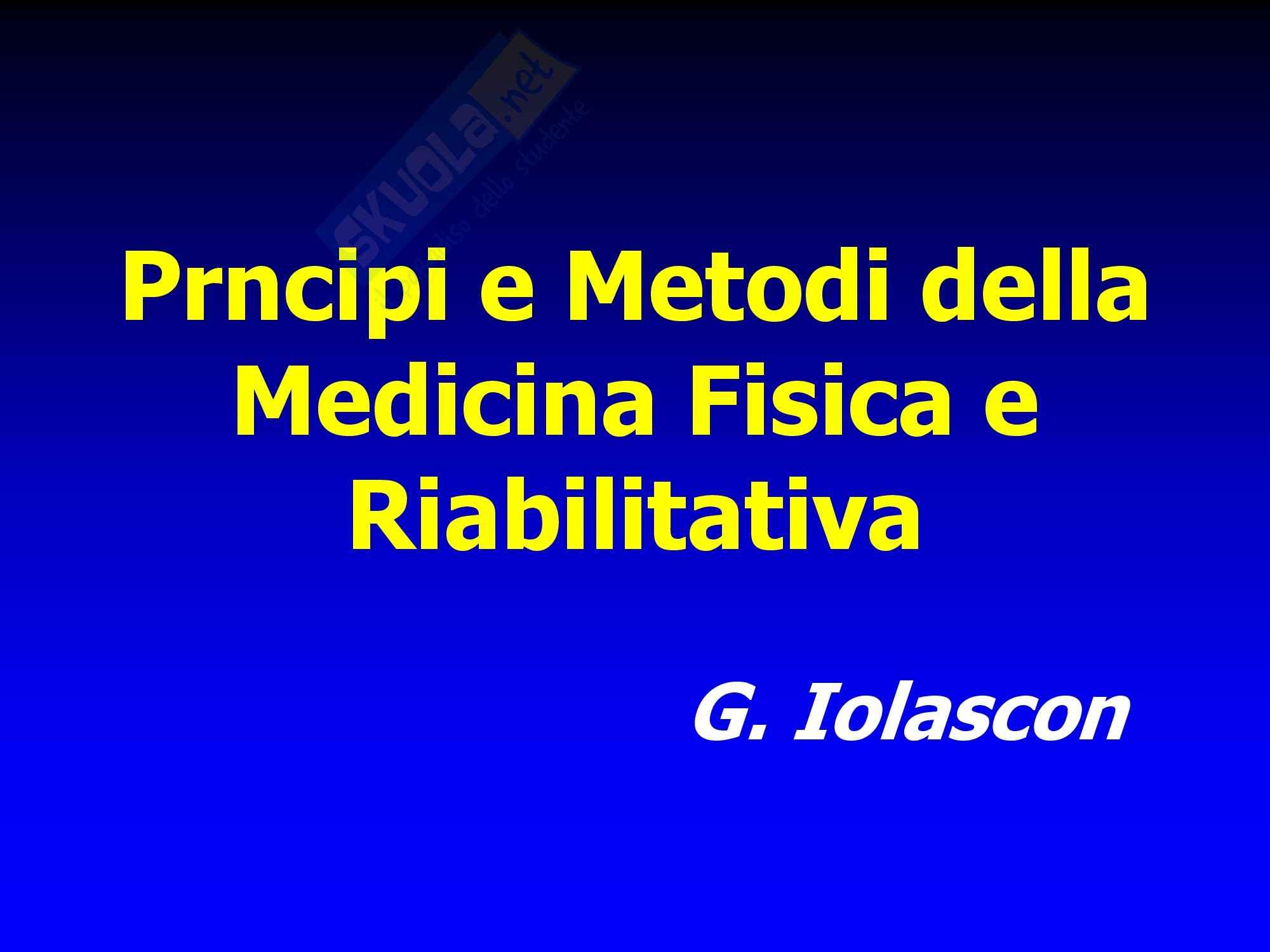 Malattie dell'apparato locomotore - principi e metodi della medicina fisica e riabilitativa