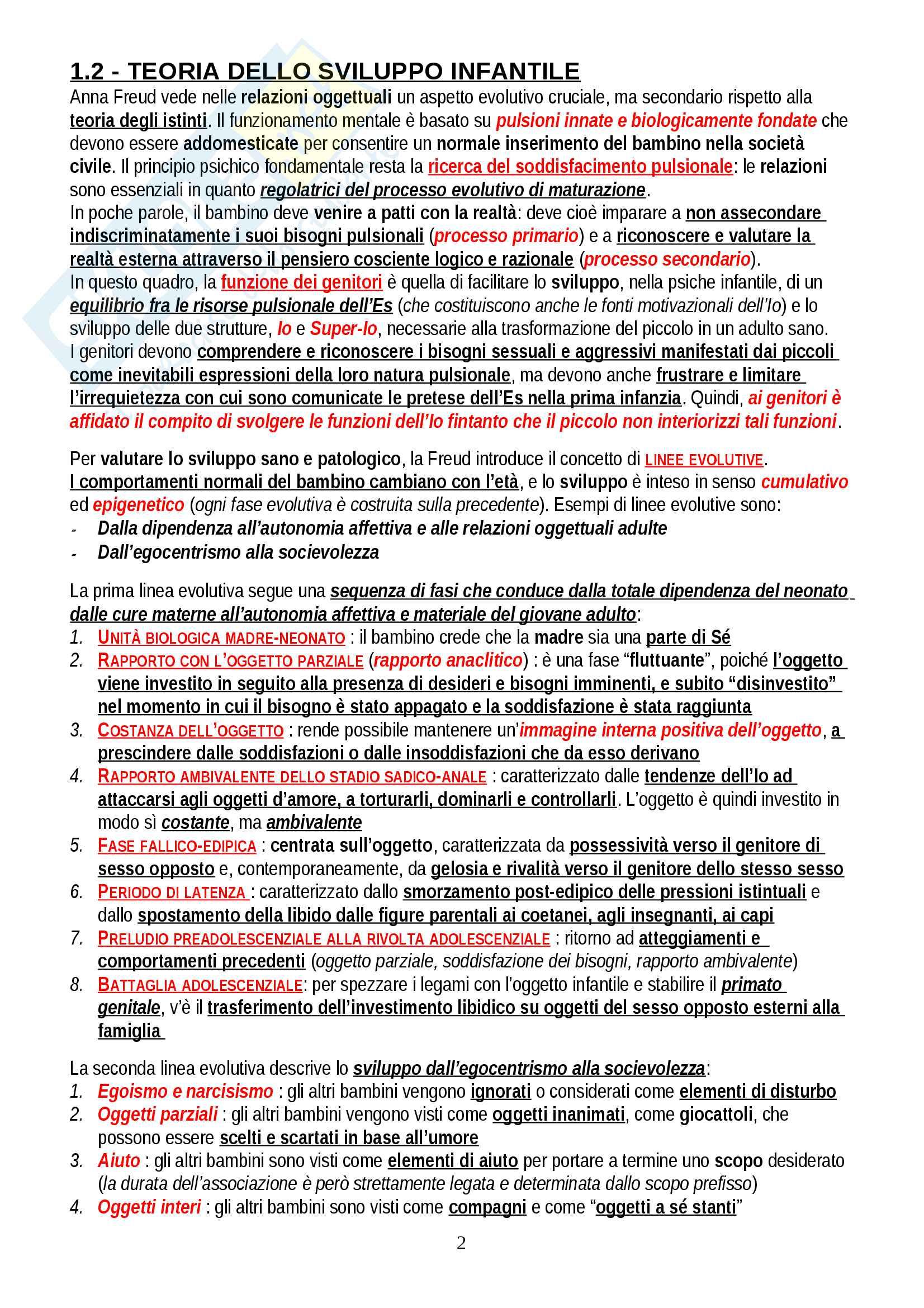 """Riassunto esame Psicologia Dinamica, prof. Gazzillo, libro consigliato """"Psicologia dinamica: Modelli teorici a confronto"""", De Coro, Ortu Pag. 2"""