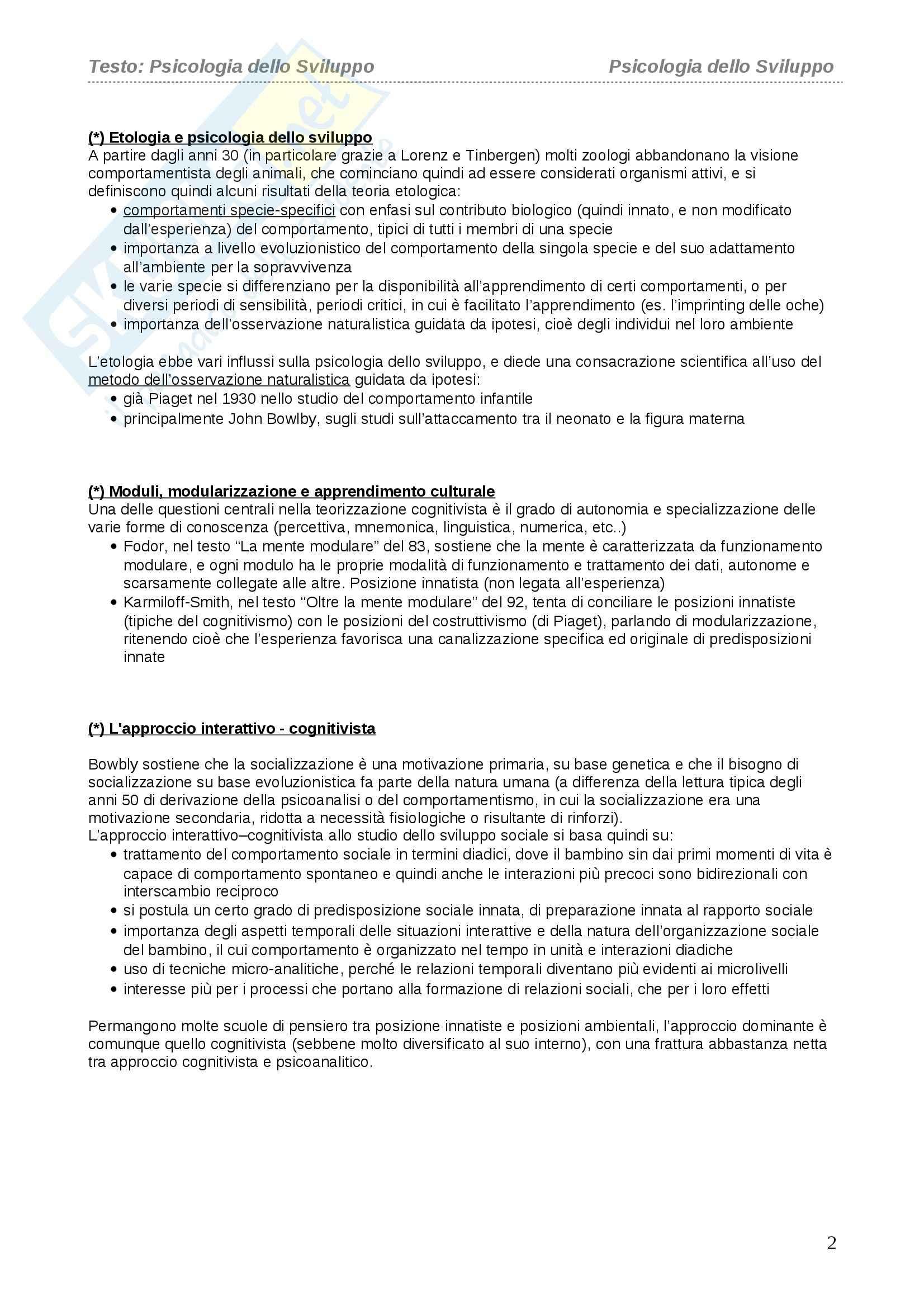 Riassunto esame Psicologia dello Sviluppo, prof. Vianello, libro consigliato Vianello Pag. 2