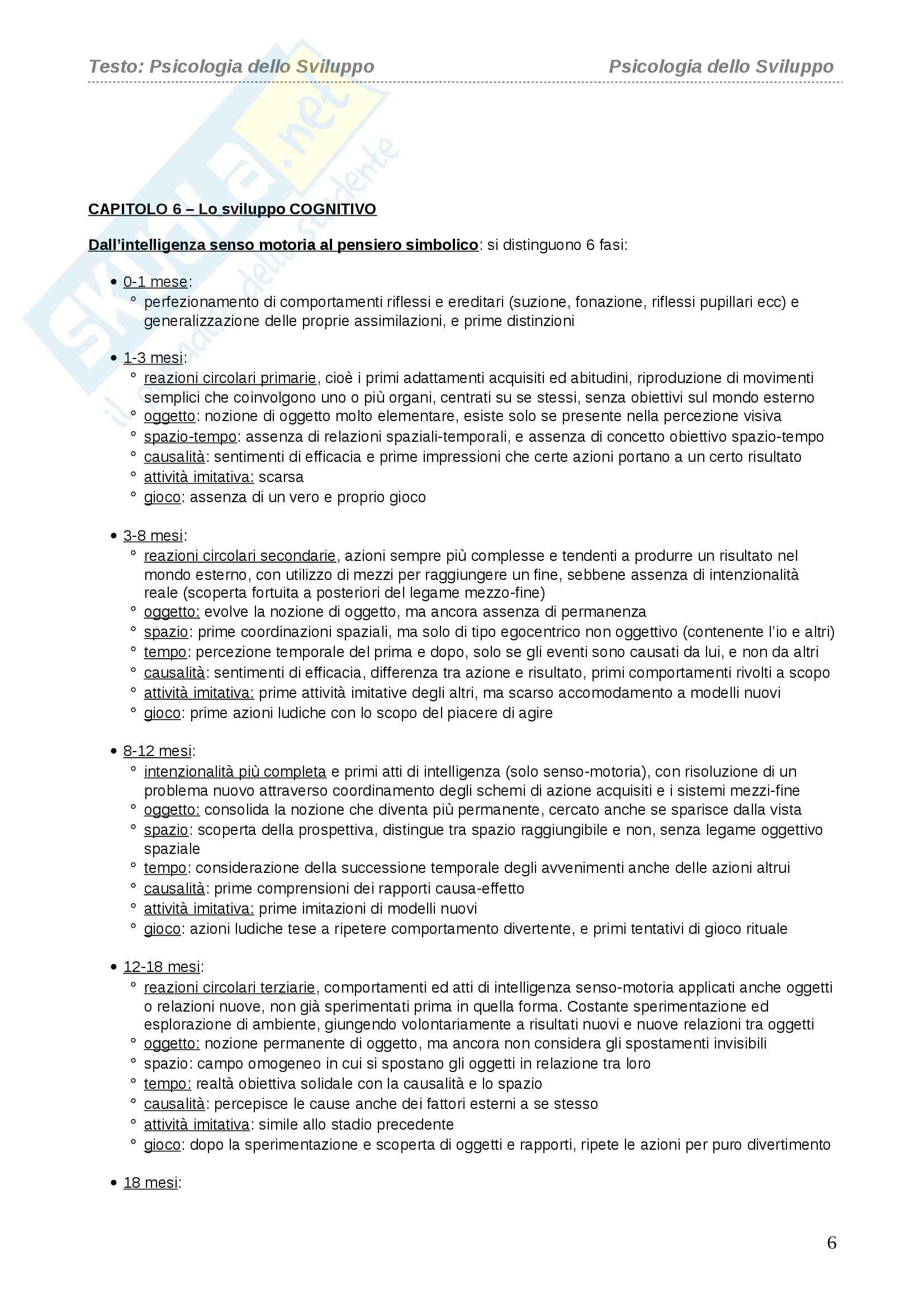 Riassunto esame Psicologia dello Sviluppo, prof. Vianello, libro consigliato Vianello Pag. 6