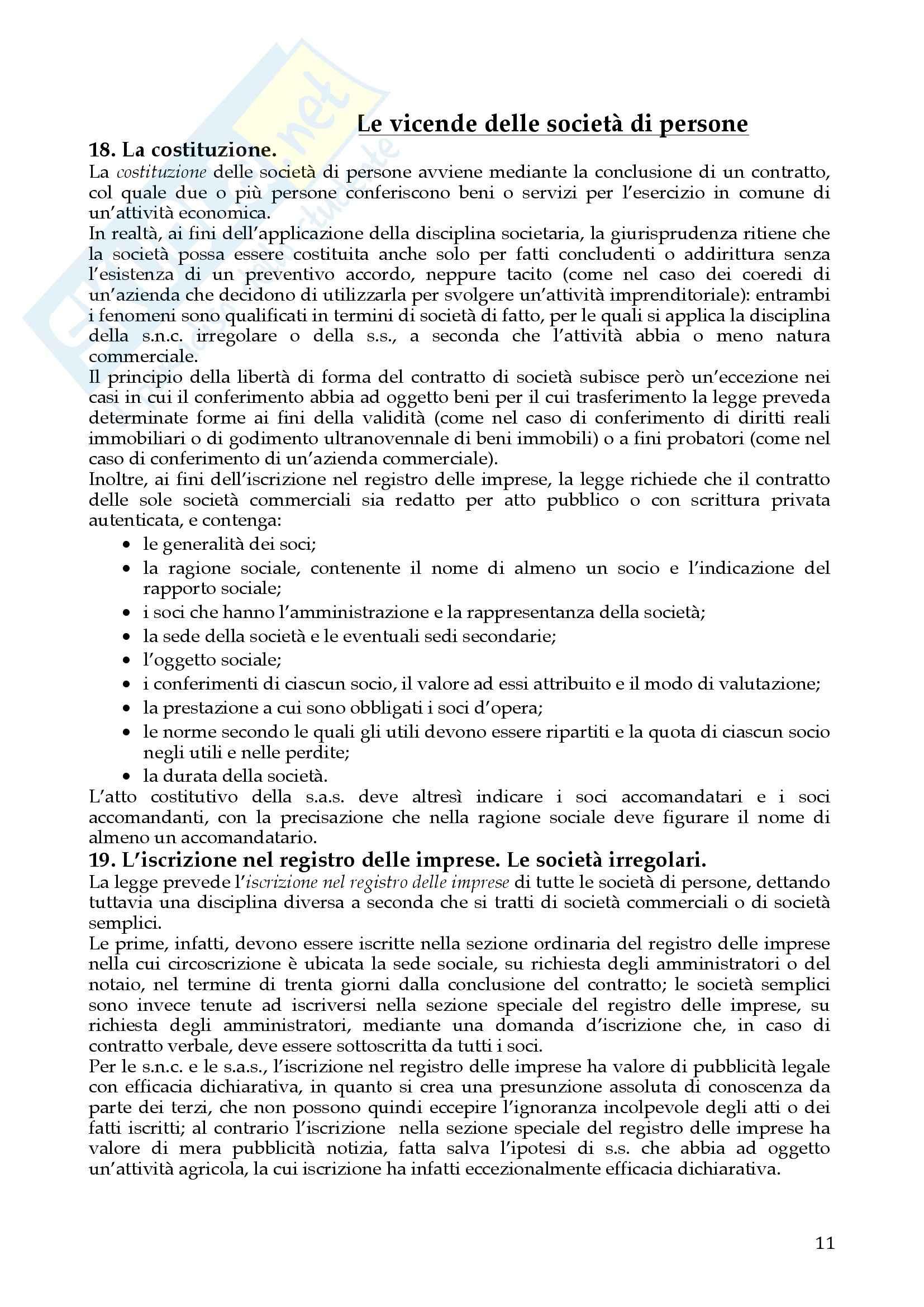 Riassunto esame Diritto Commerciale, prof. Dell'Atti, libro consigliato Diritto delle società, A.A.V.V. Pag. 11