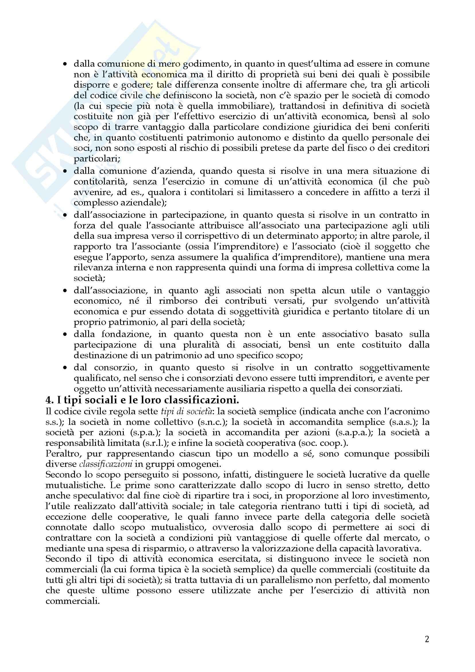 Riassunto esame Diritto Commerciale, prof. Dell'Atti, libro consigliato Diritto delle società, A.A.V.V. Pag. 2