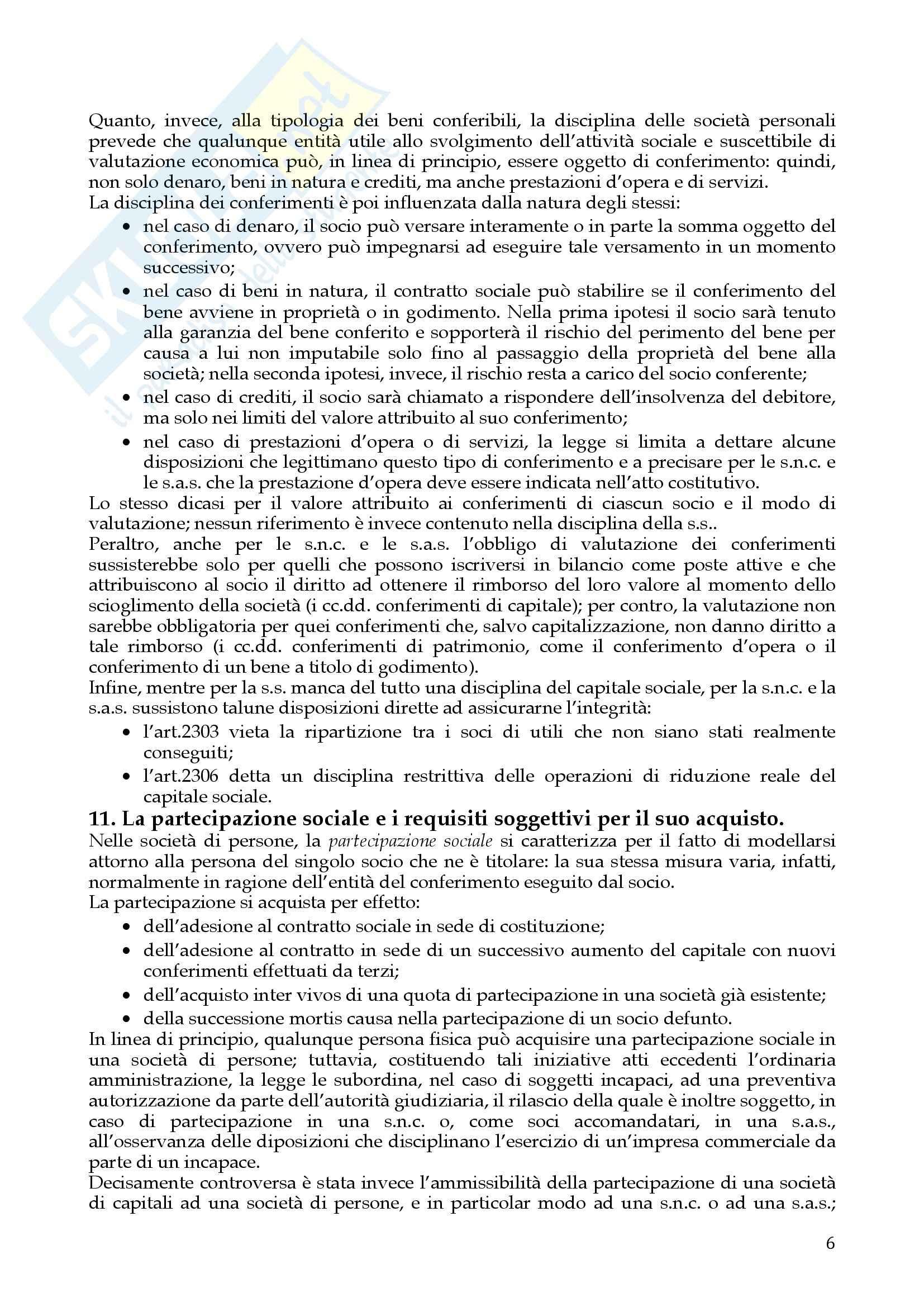 Riassunto esame Diritto Commerciale, prof. Dell'Atti, libro consigliato Diritto delle società, A.A.V.V. Pag. 6
