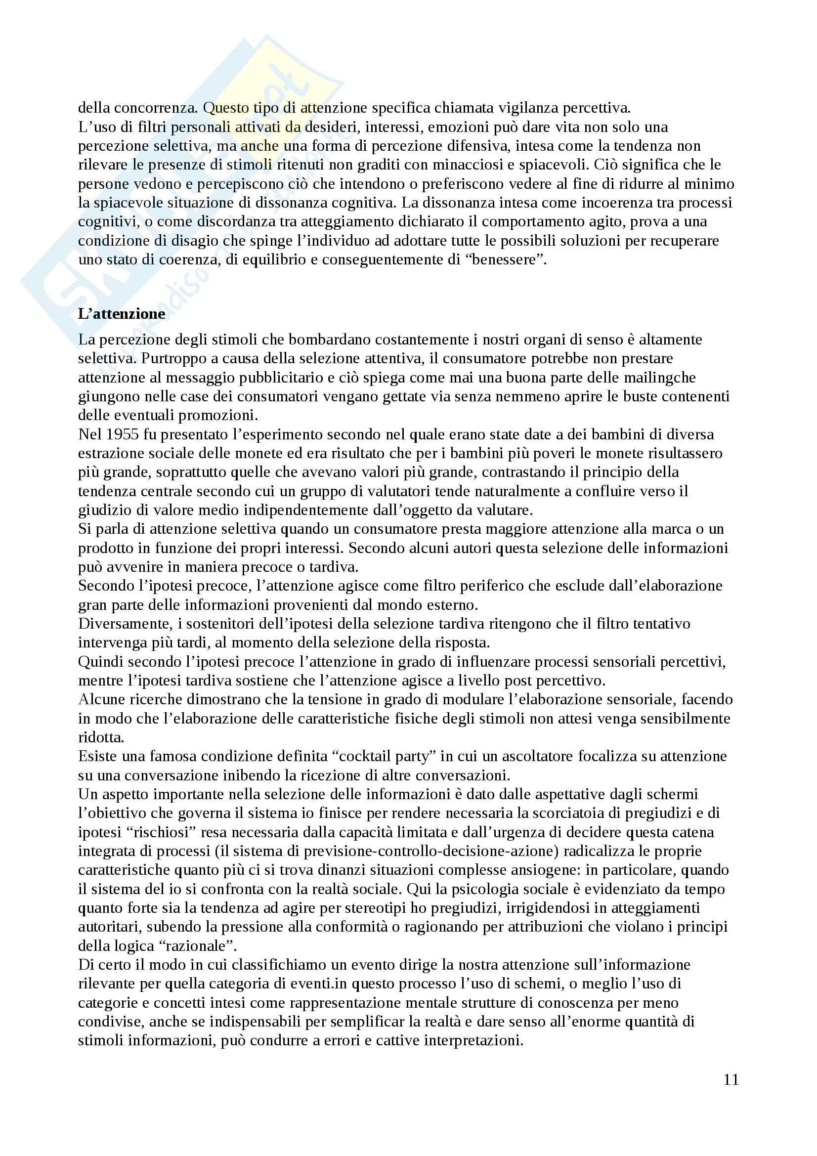Riassunto esame Psicologia dei consumi, prof. Russo, libro consigliato Manuale di psicologia dei consumi, Russo, Olivero Pag. 11