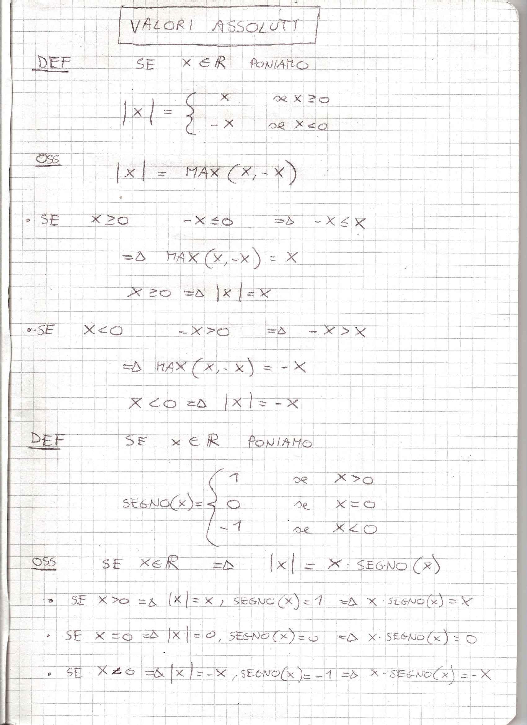 Analisi Matematica - Appunti
