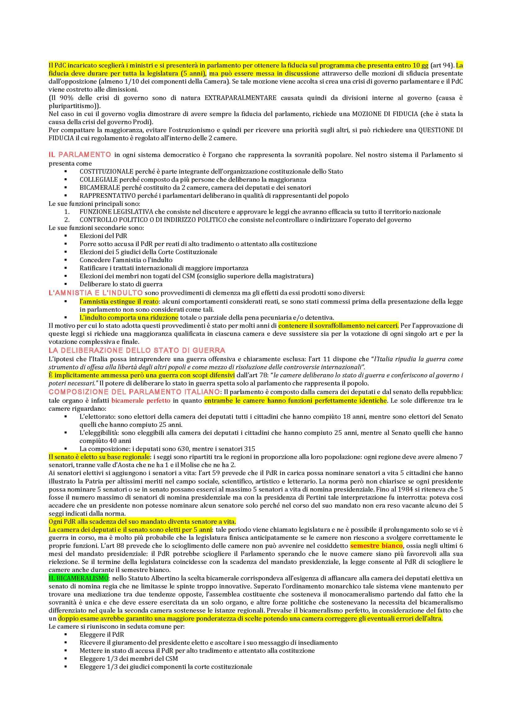 Diritto pubblico - principi fondamentali Pag. 6