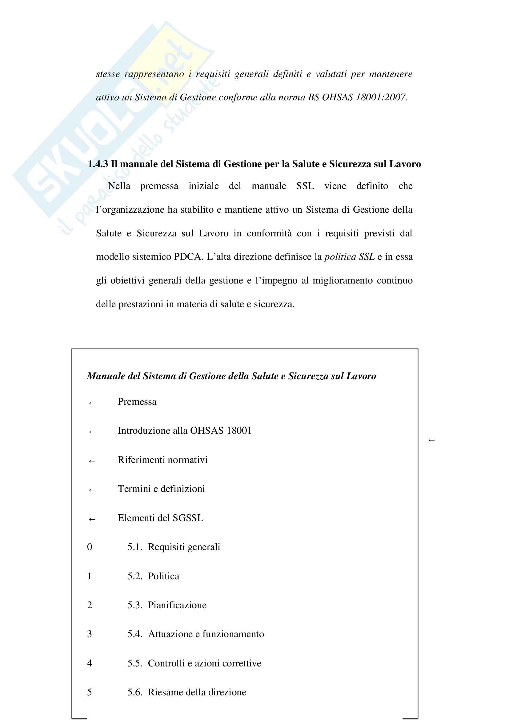 Tesi sulla sicurezza sui luoghi di lavoro ( Valutazione dei rischi e sistemi del lavoro in un'azienda metalmeccanica) Pag. 16