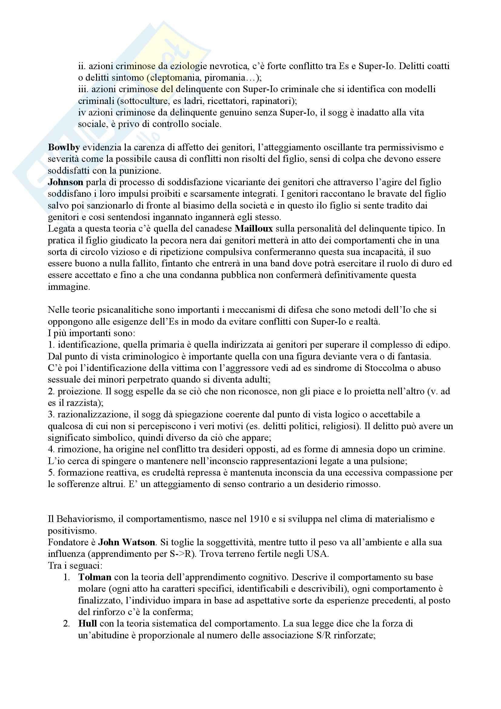 Criminologia  e sociologia della devianza - Appunti Pag. 11