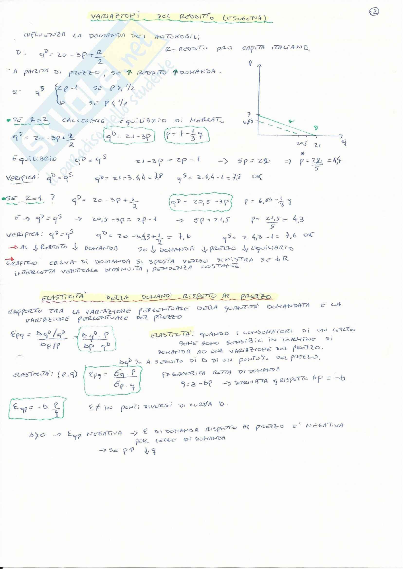 Teorie e esercitazioni su microeconomia,  Economia politica Pag. 46
