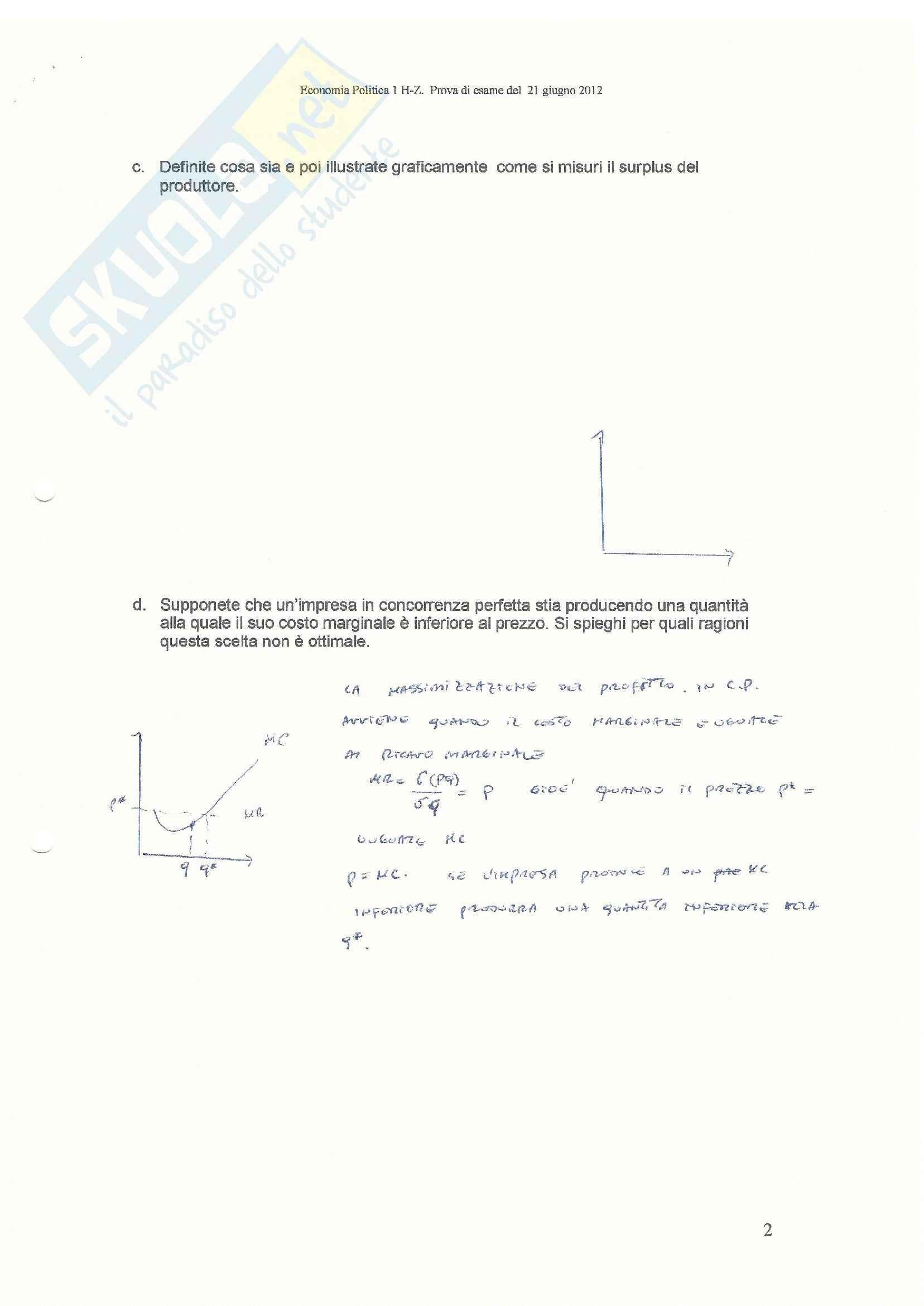 Teorie e esercitazioni su microeconomia,  Economia politica Pag. 91
