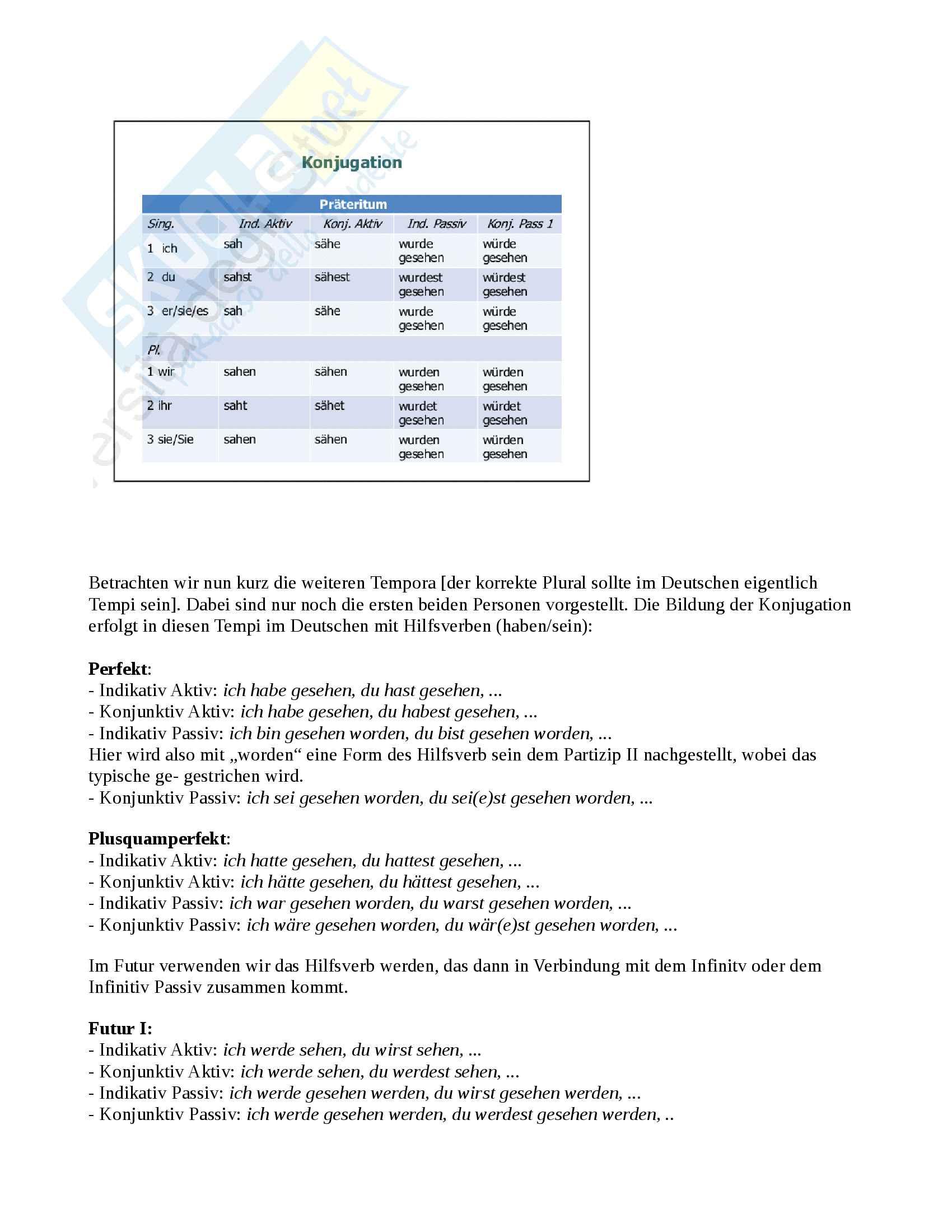 Tedesco, verbo, modi, tempi e coniugazione Pag. 2